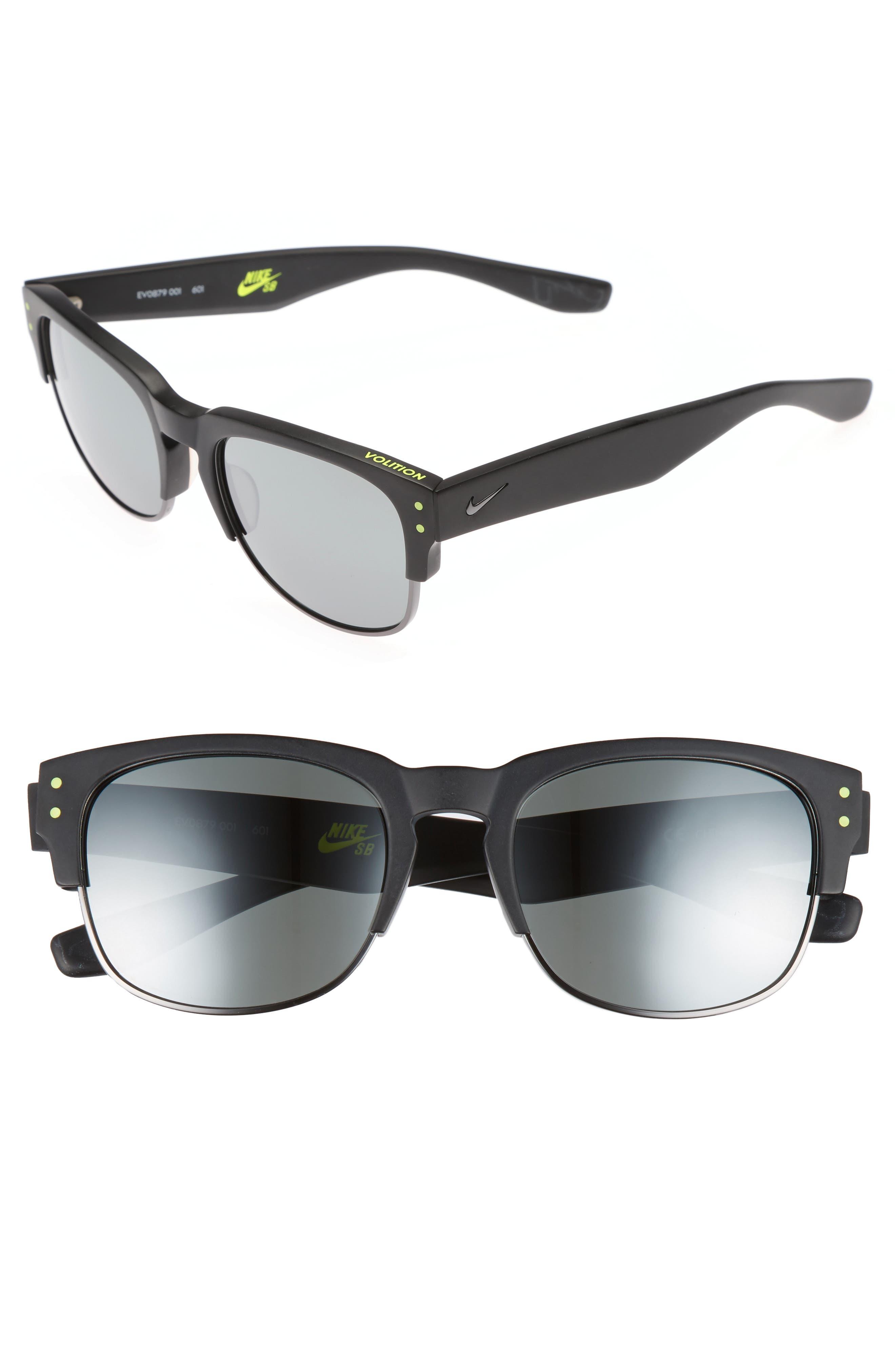 Volition 54mm Sunglasses,                         Main,                         color, Matte Black/ Gunmetal