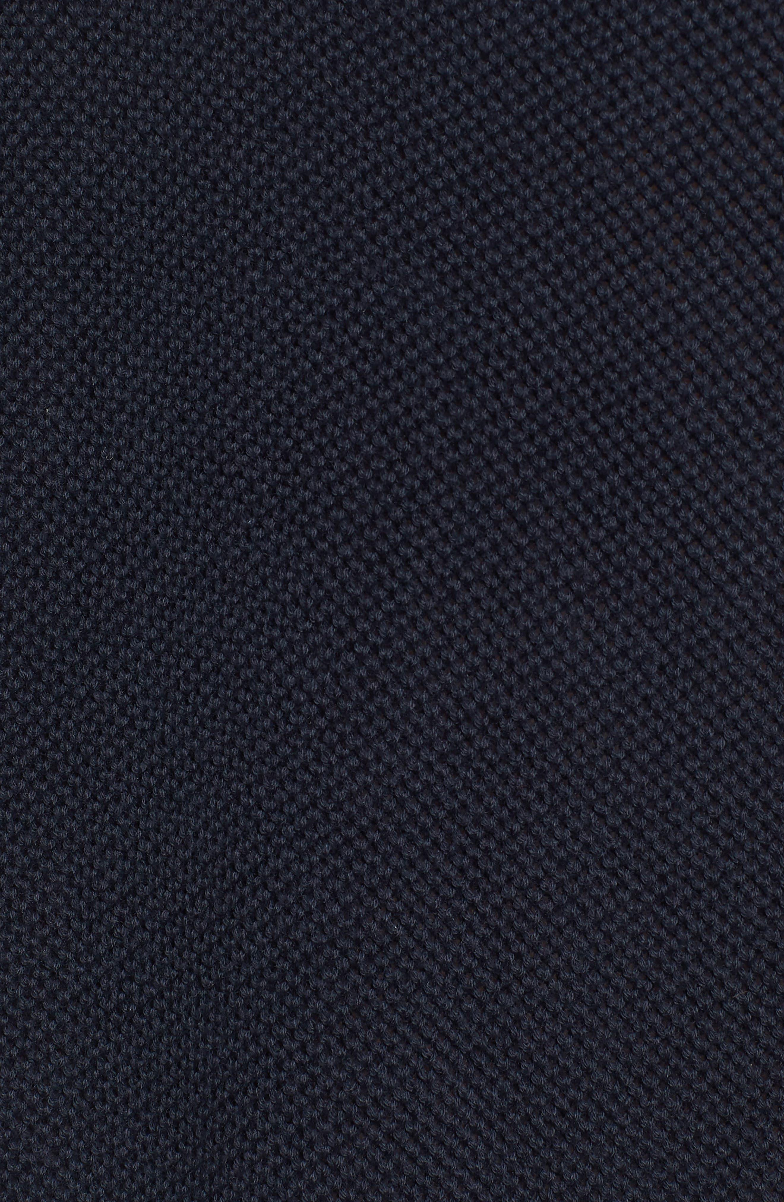 Textured Long Sleeve Polo,                             Alternate thumbnail 5, color,                             Marine Blue