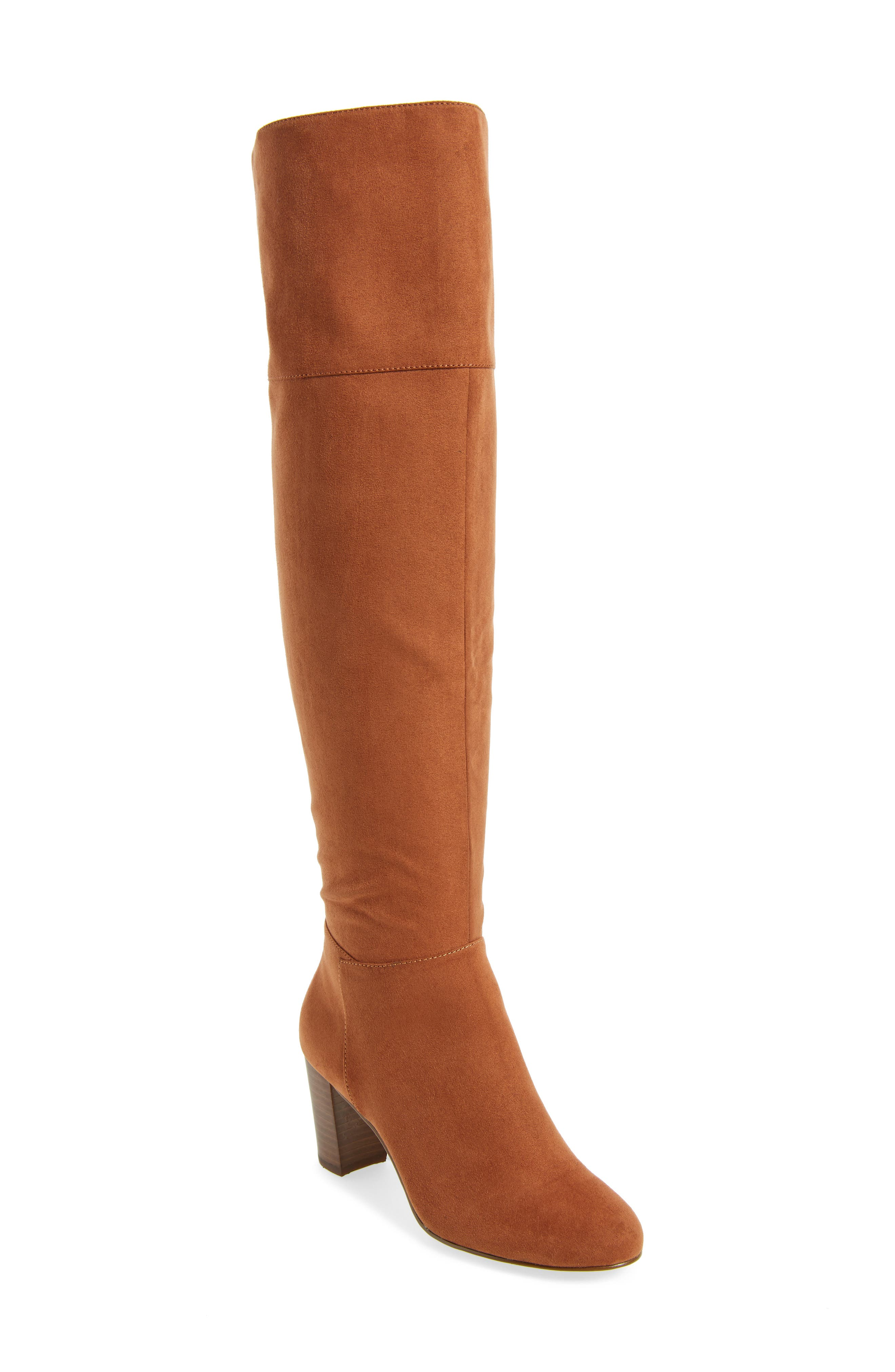 Telluride II Over the Knee Boot,                         Main,                         color, Camel Suede