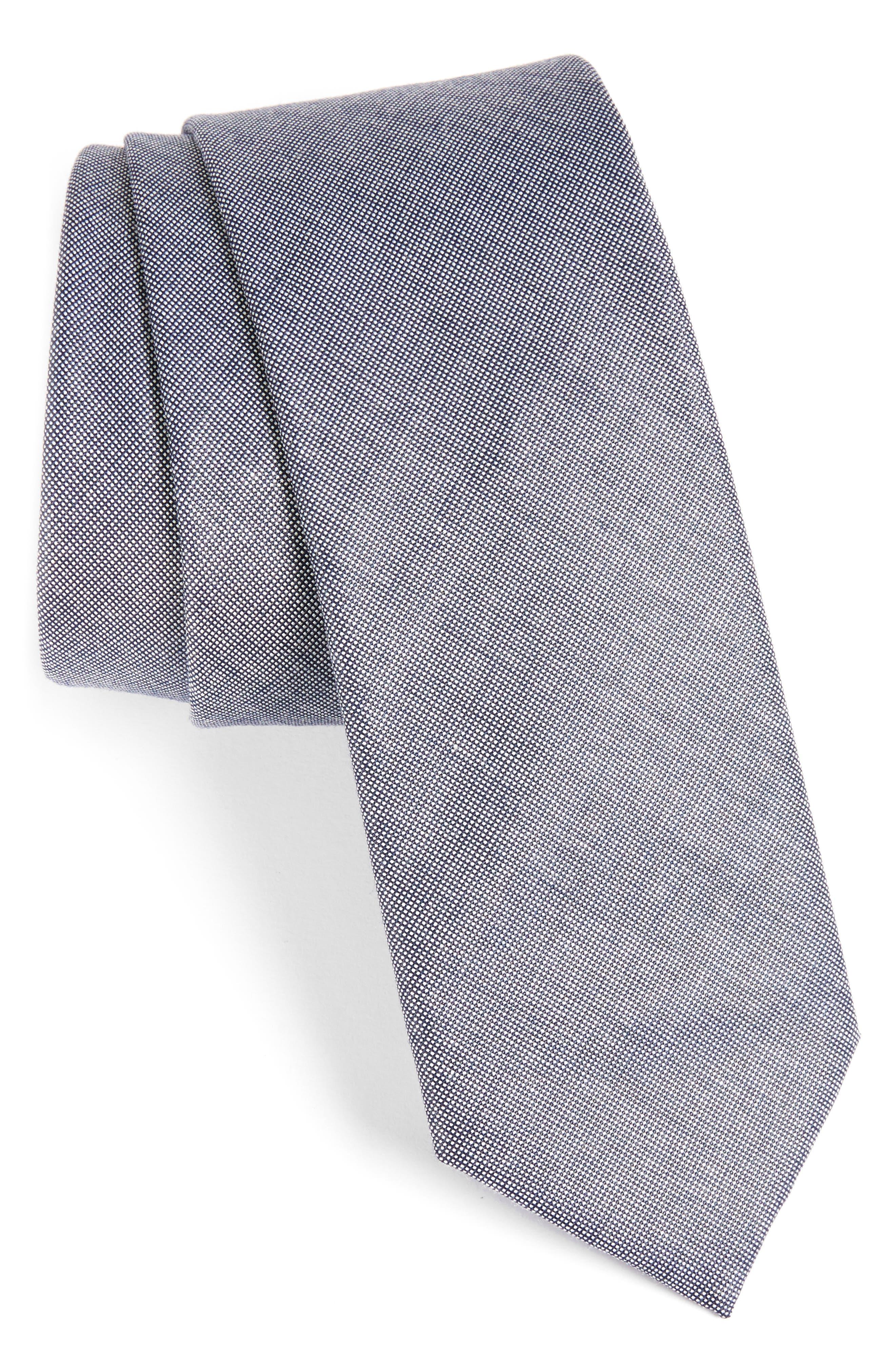 1901 Solid Cotton Blend Tie