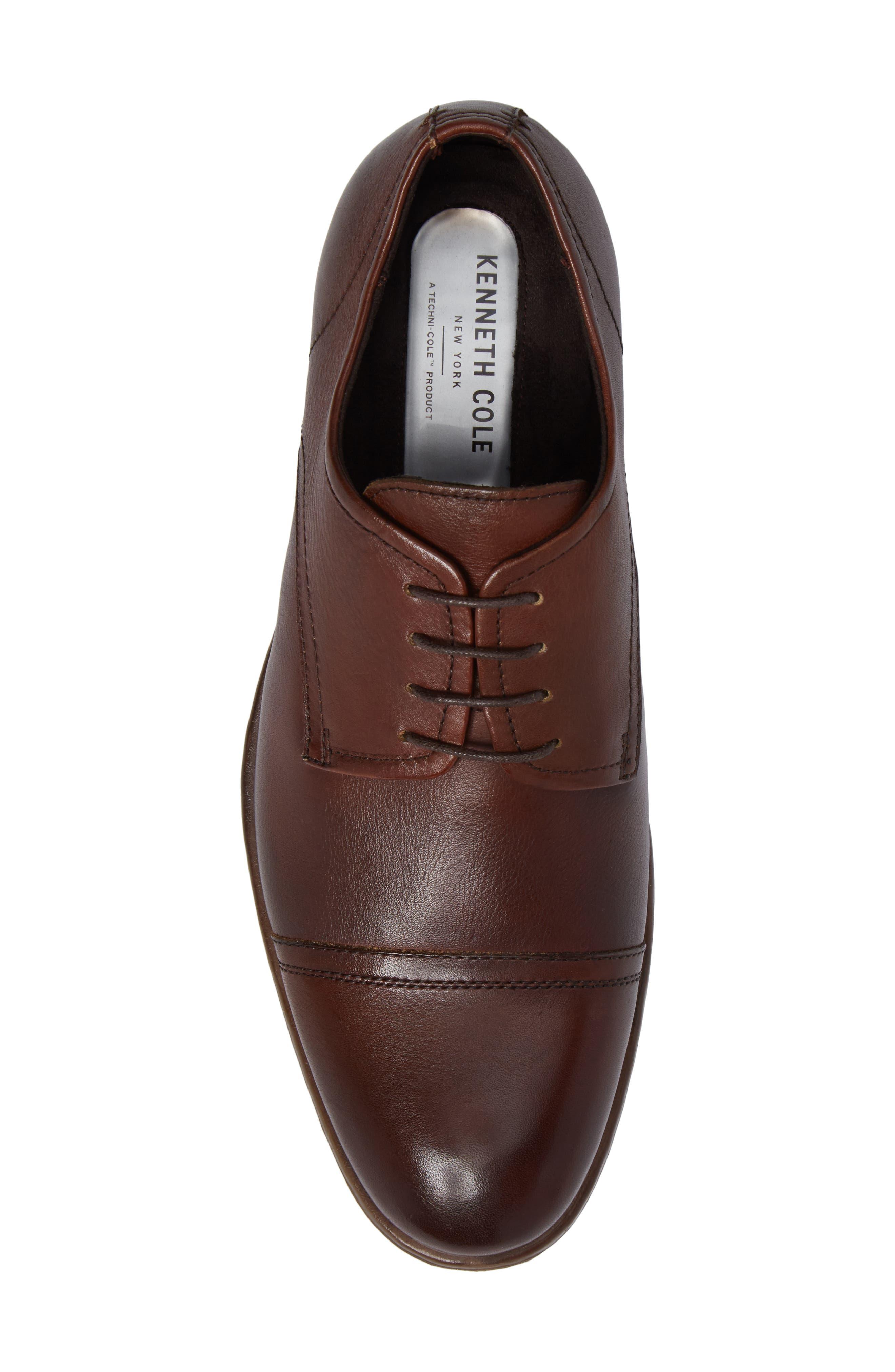 Cap Toe Derby,                             Alternate thumbnail 5, color,                             Cognac Leather