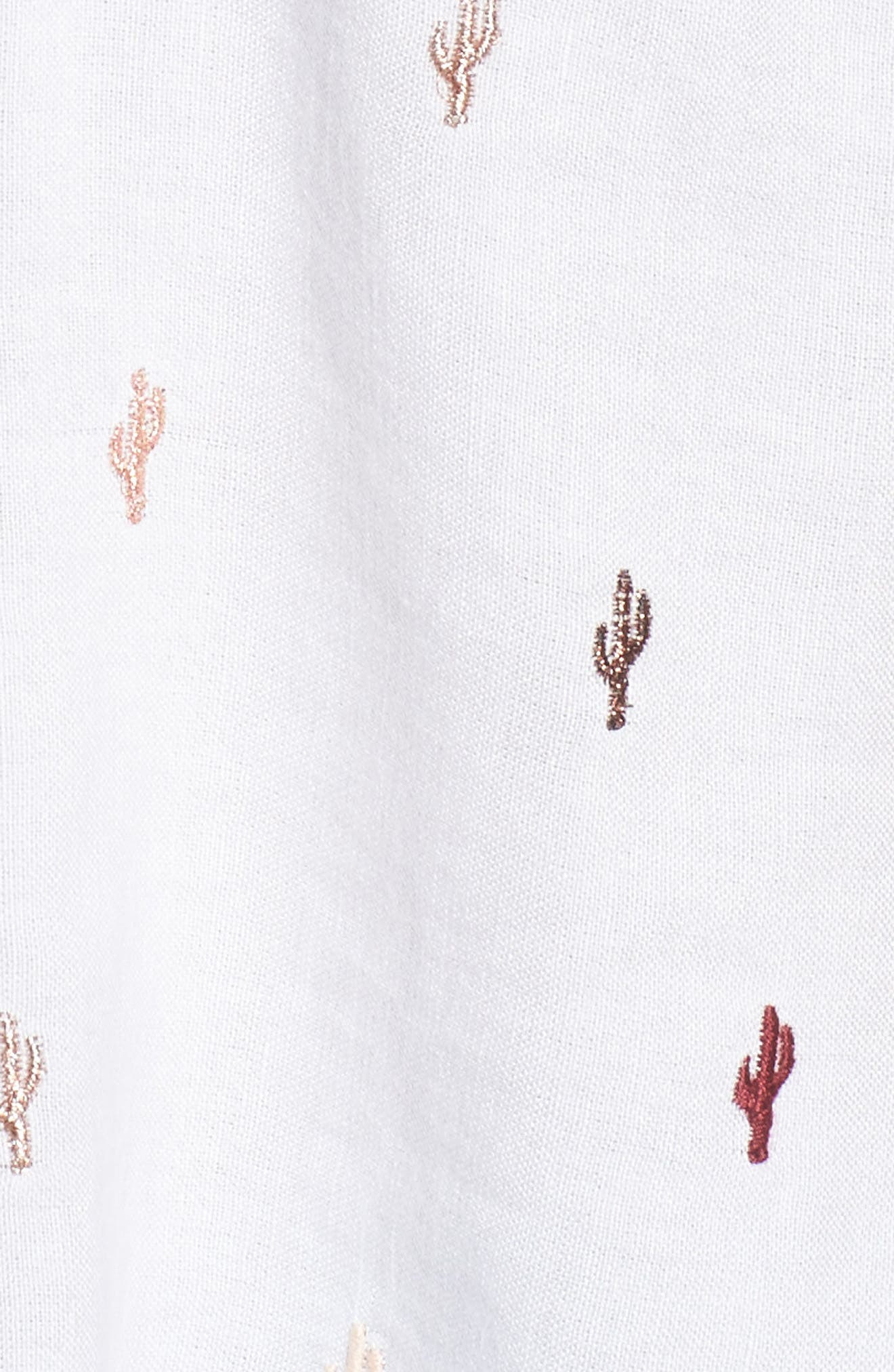 Whitney Cactus Print Shirt,                             Alternate thumbnail 5, color,                             Metallic Cactus