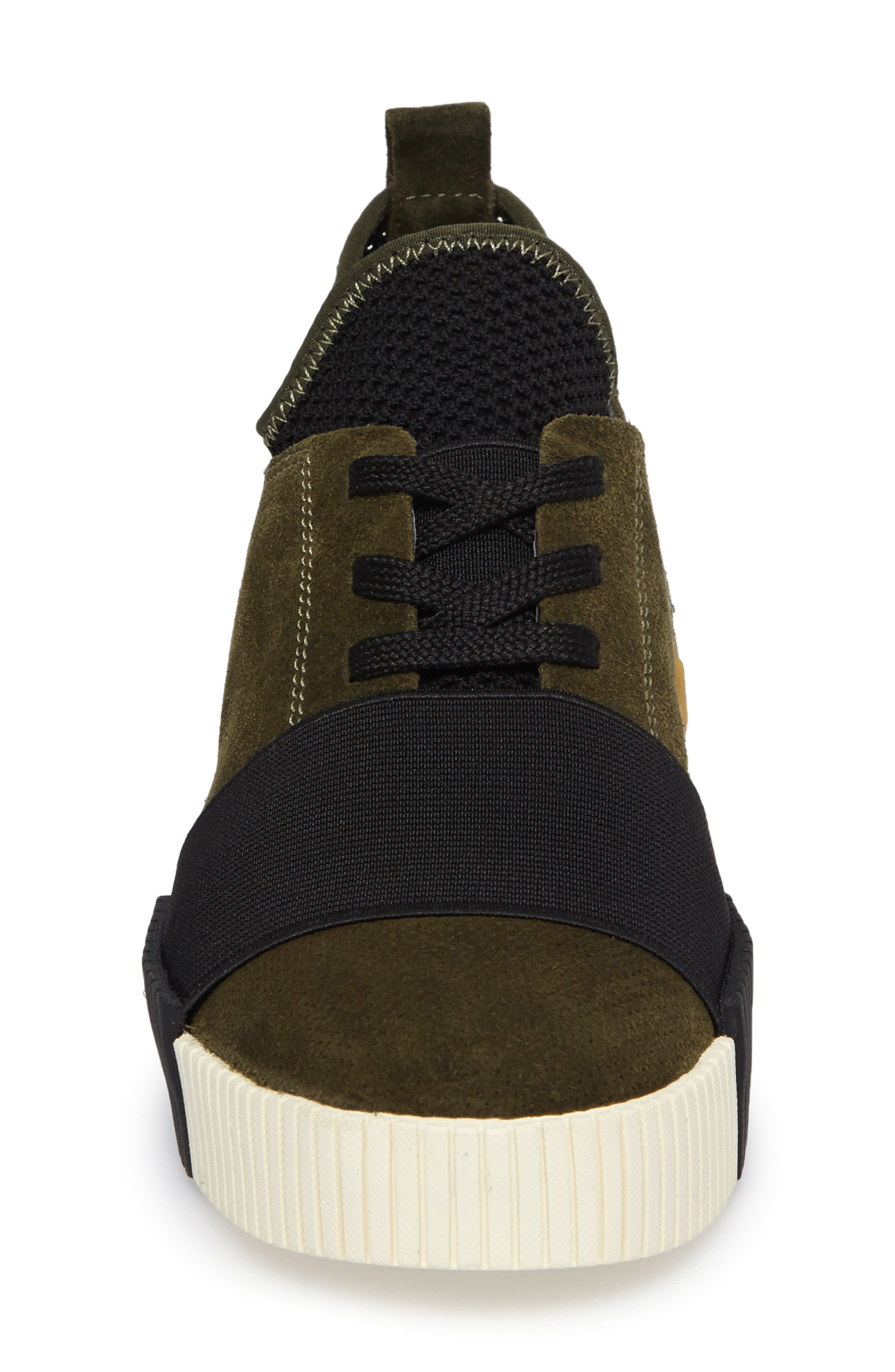 Ryley Platform Sneaker,                             Alternate thumbnail 4, color,                             Green Leather