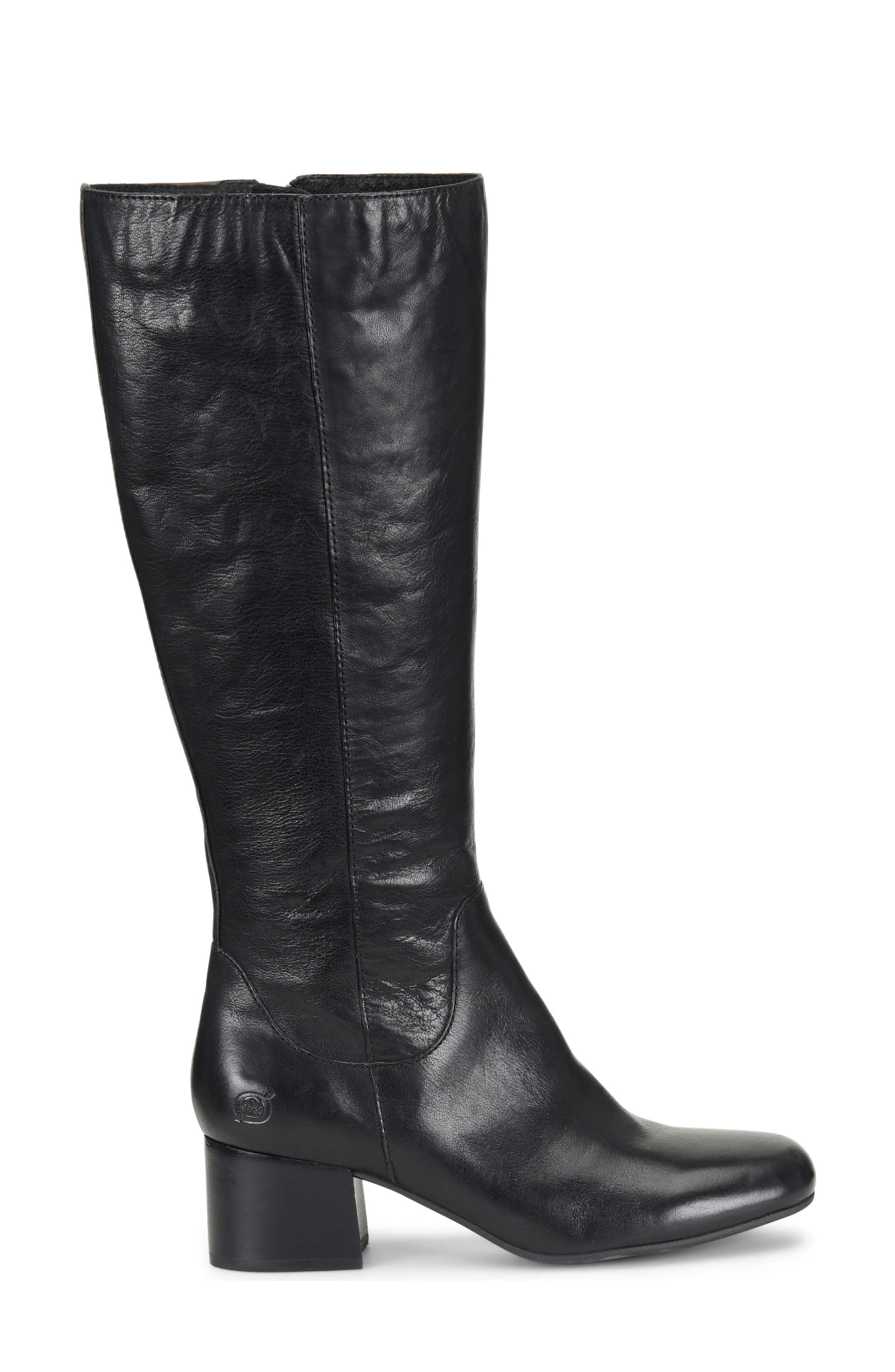 Avala Knee High Boot,                             Alternate thumbnail 3, color,                             Black Leather