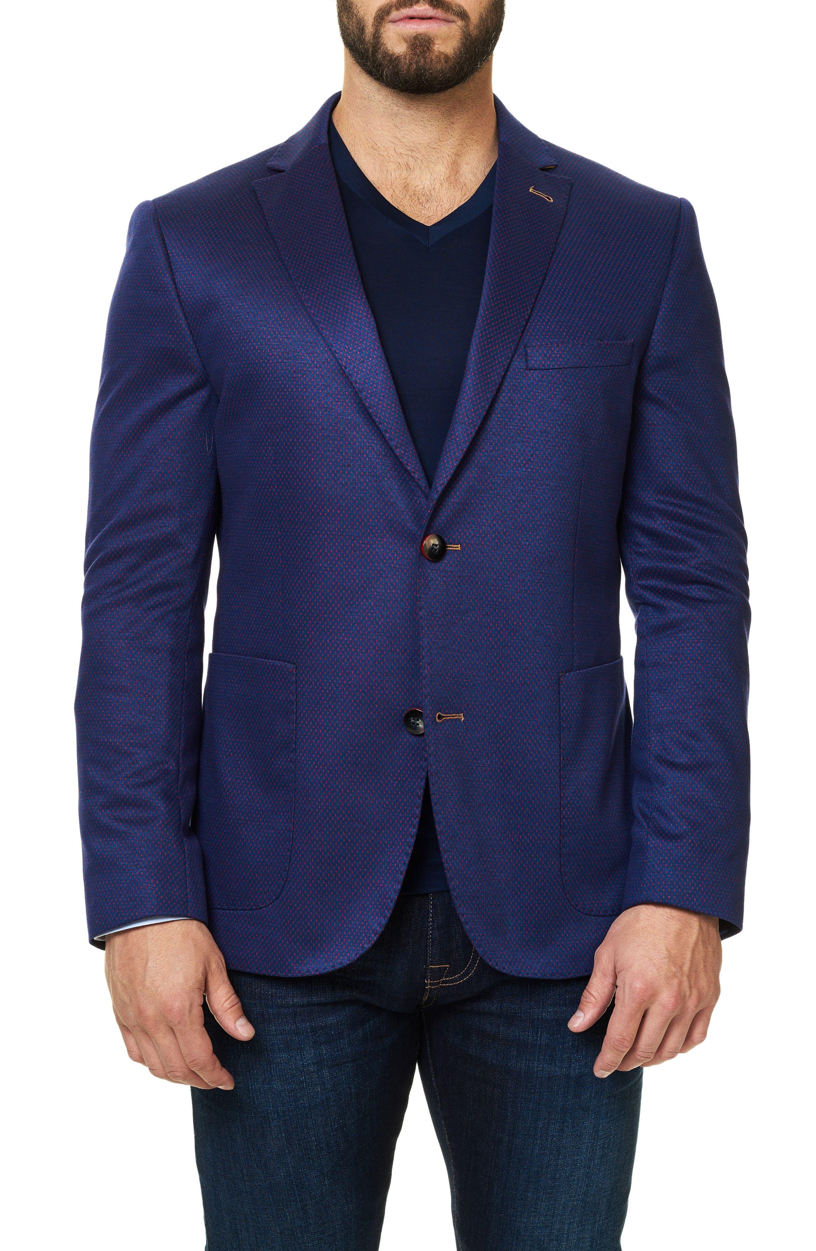 Dobby Dash Sport Coat,                         Main,                         color, Purple