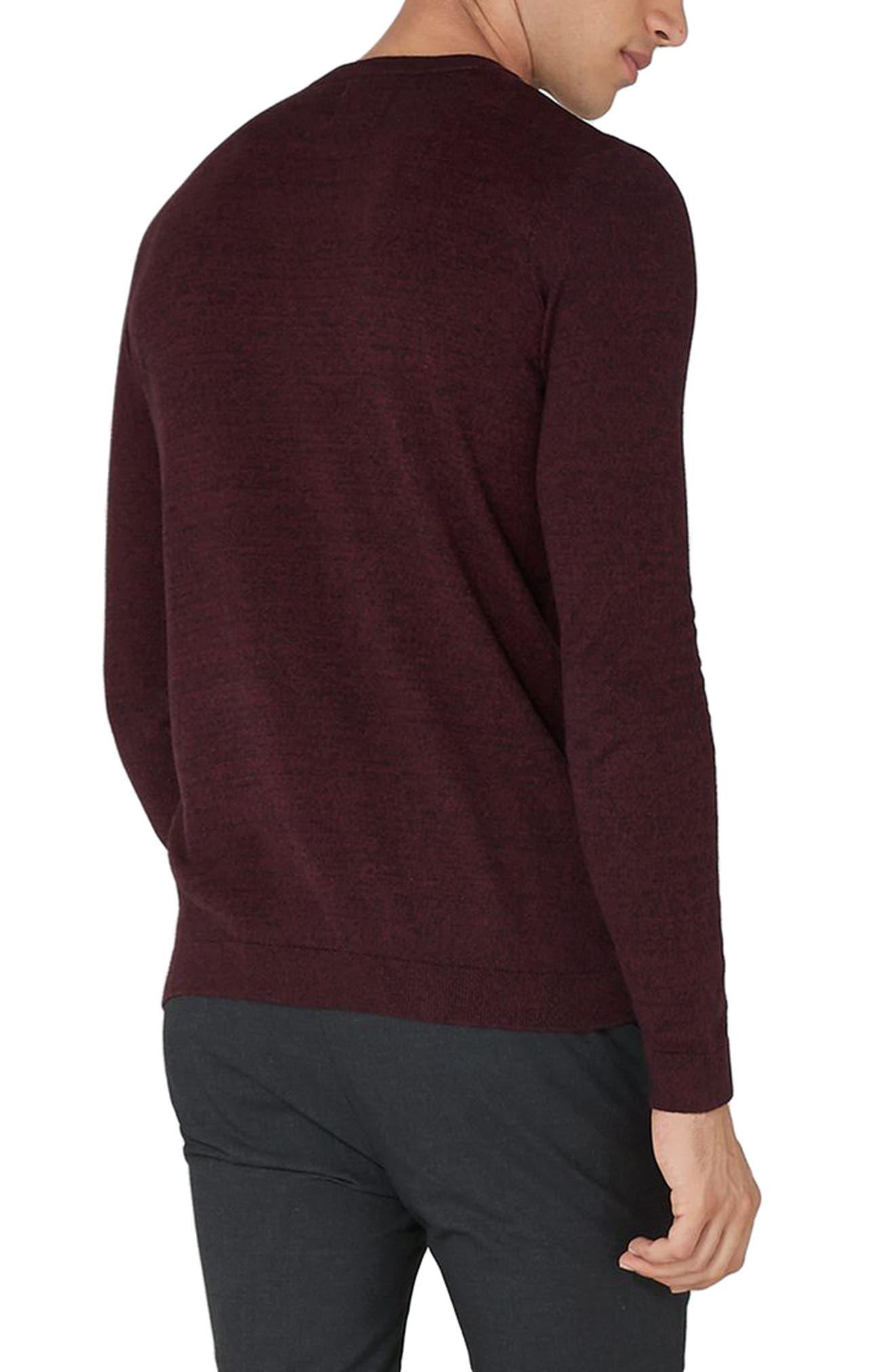Alternate Image 2  - Topman Side Ribbed Slim Fit Sweater