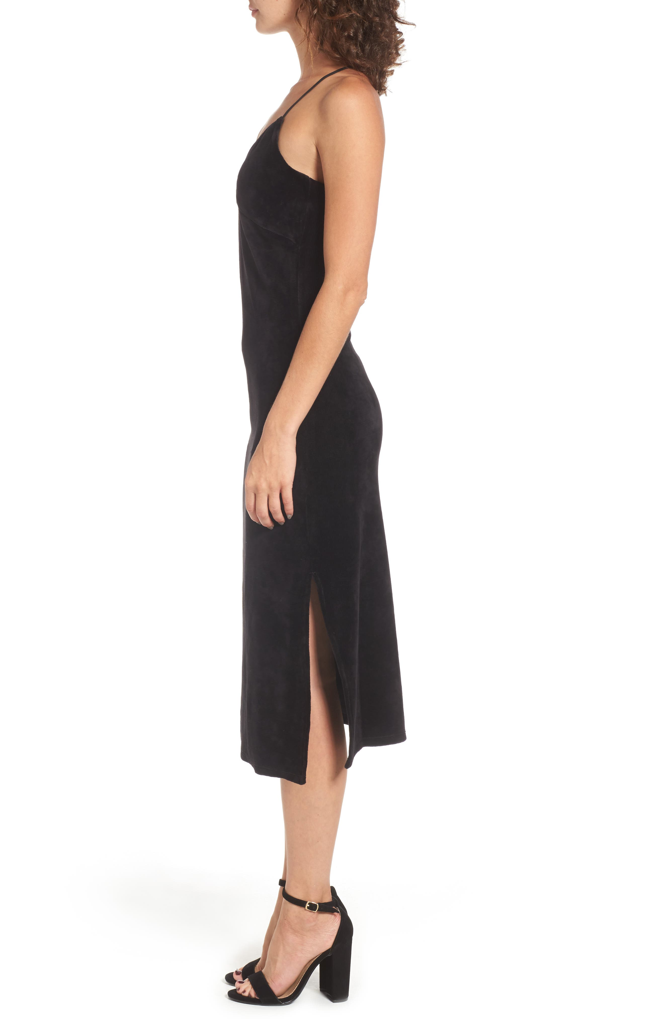 Alternate Image 3  - Juicy Couture Stretch Velour Slipdress