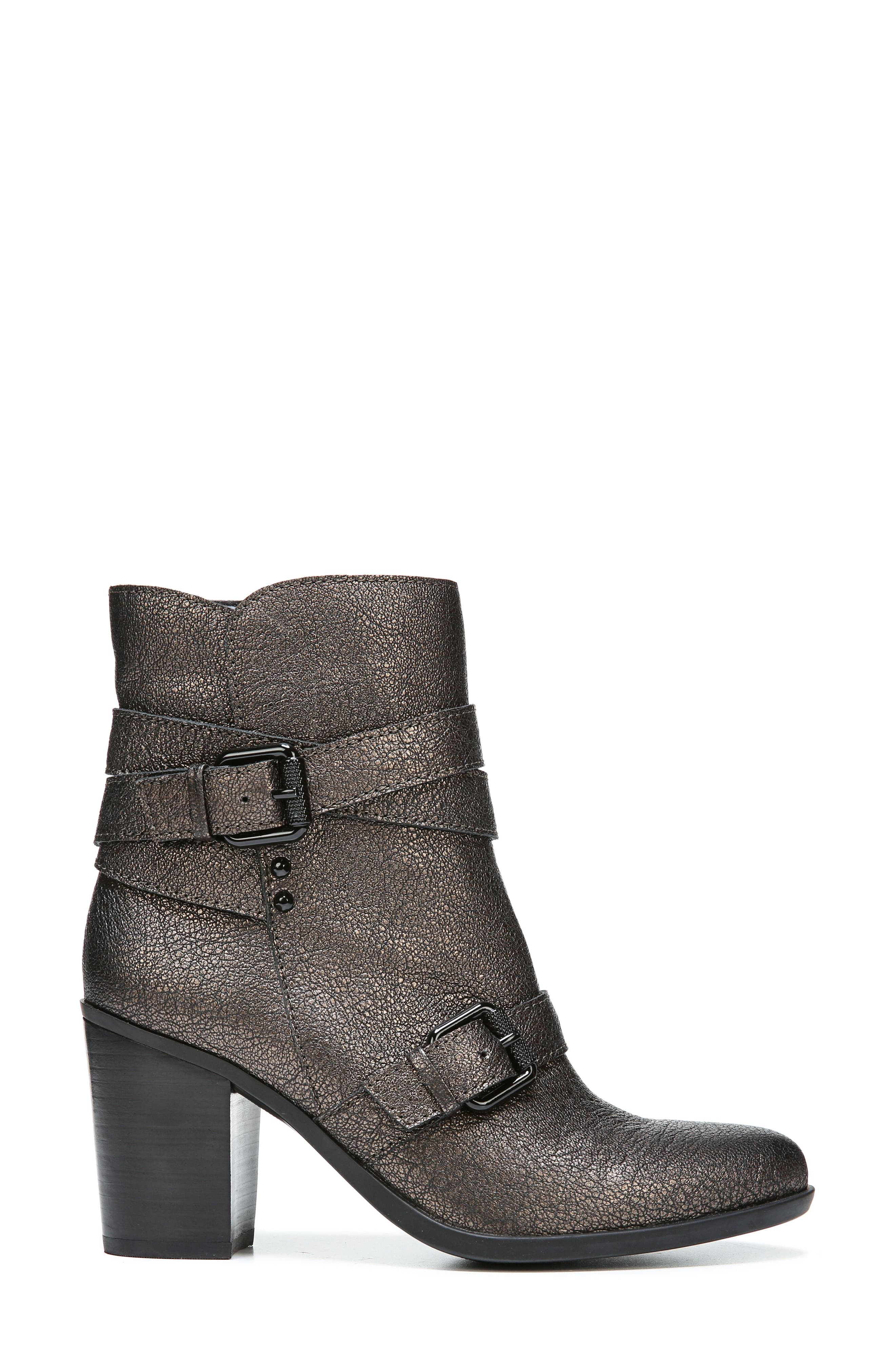 Karlie Buckle Bootie,                             Alternate thumbnail 3, color,                             Bronze Leather