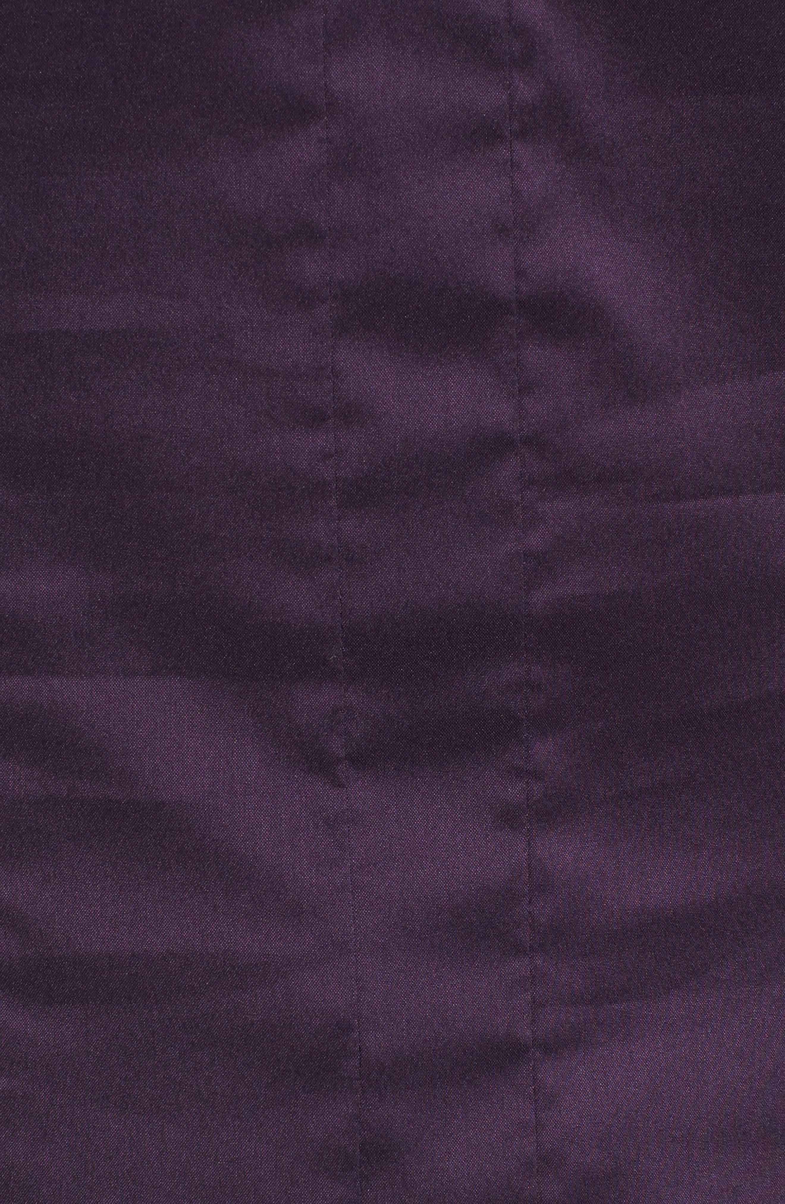 Bashina Fitted Stretch Poplin Shirt,                             Alternate thumbnail 5, color,                             Dark Dahlia