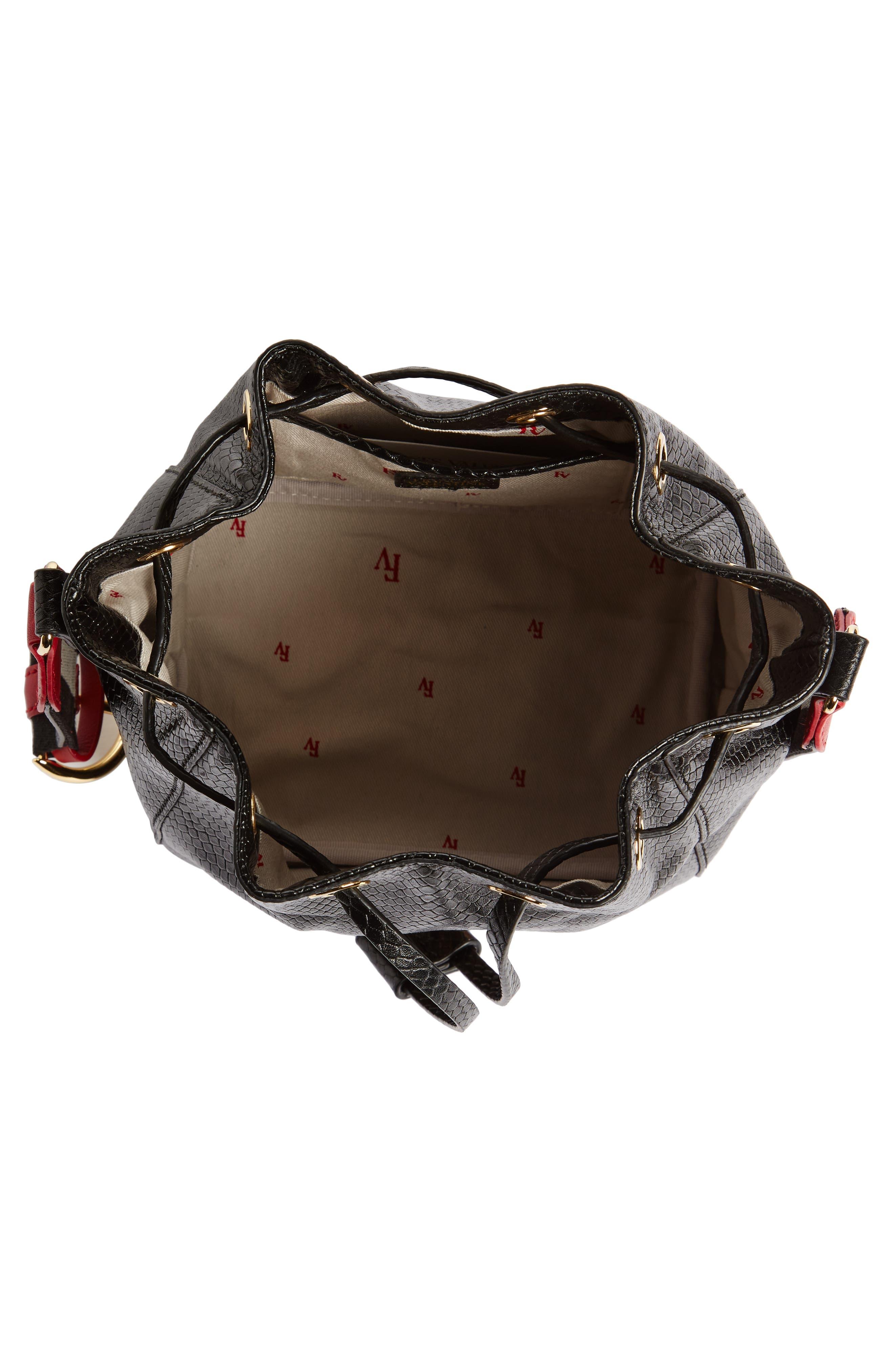 Alternate Image 3  - Frances Valentine Small Snakeskin Embossed Leather Bucket Bag