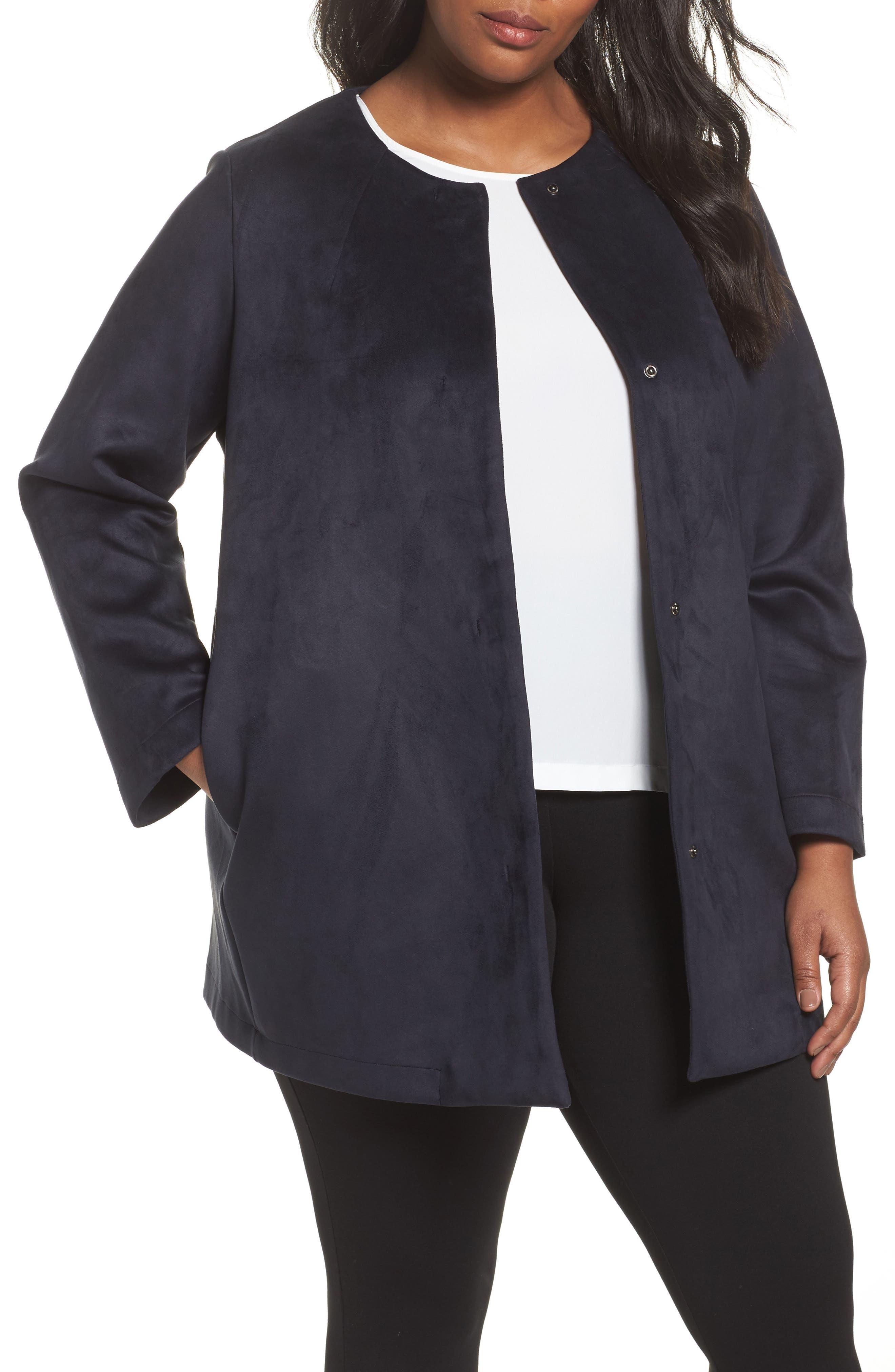 Persona by Marina Rinaldi Napoli Faux Sude Duster Jacket (Plus Size)