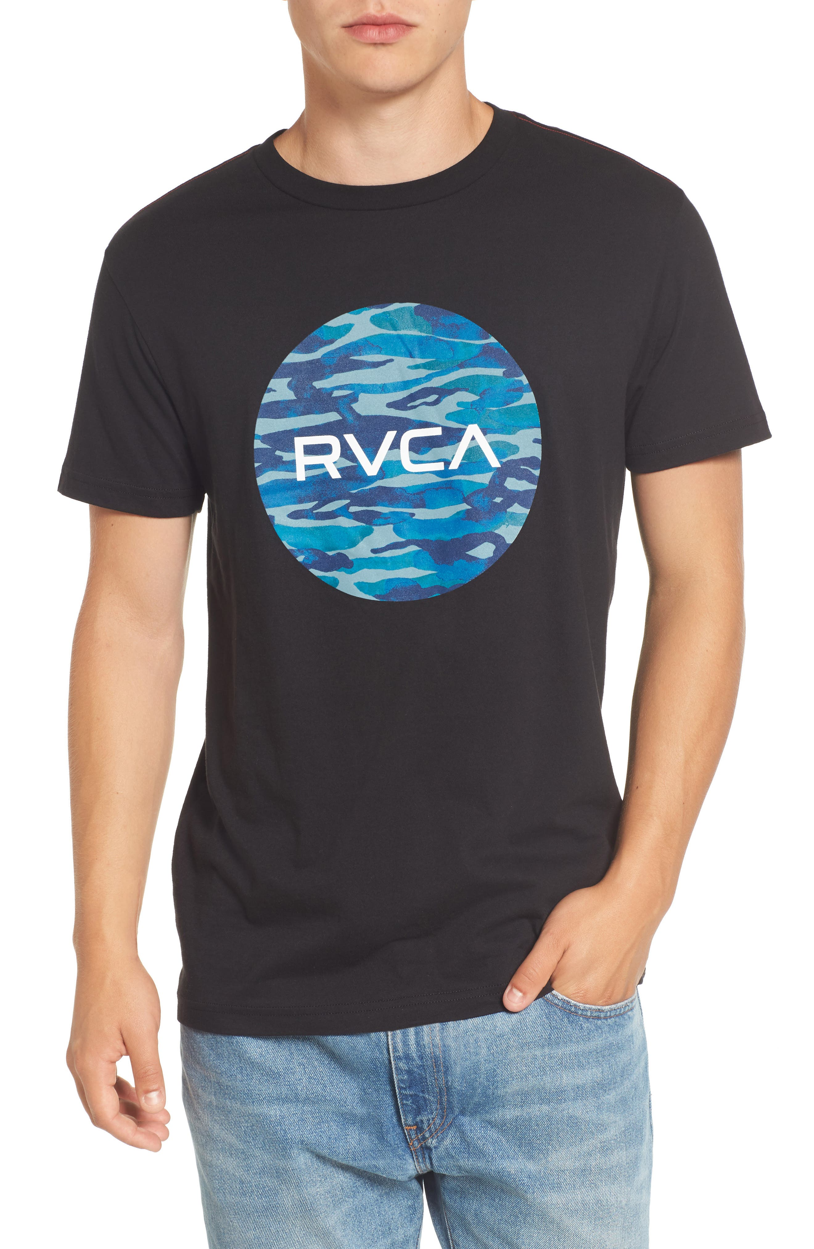 Alternate Image 1 Selected - RVCA Water Camo Motors Graphic T-Shirt