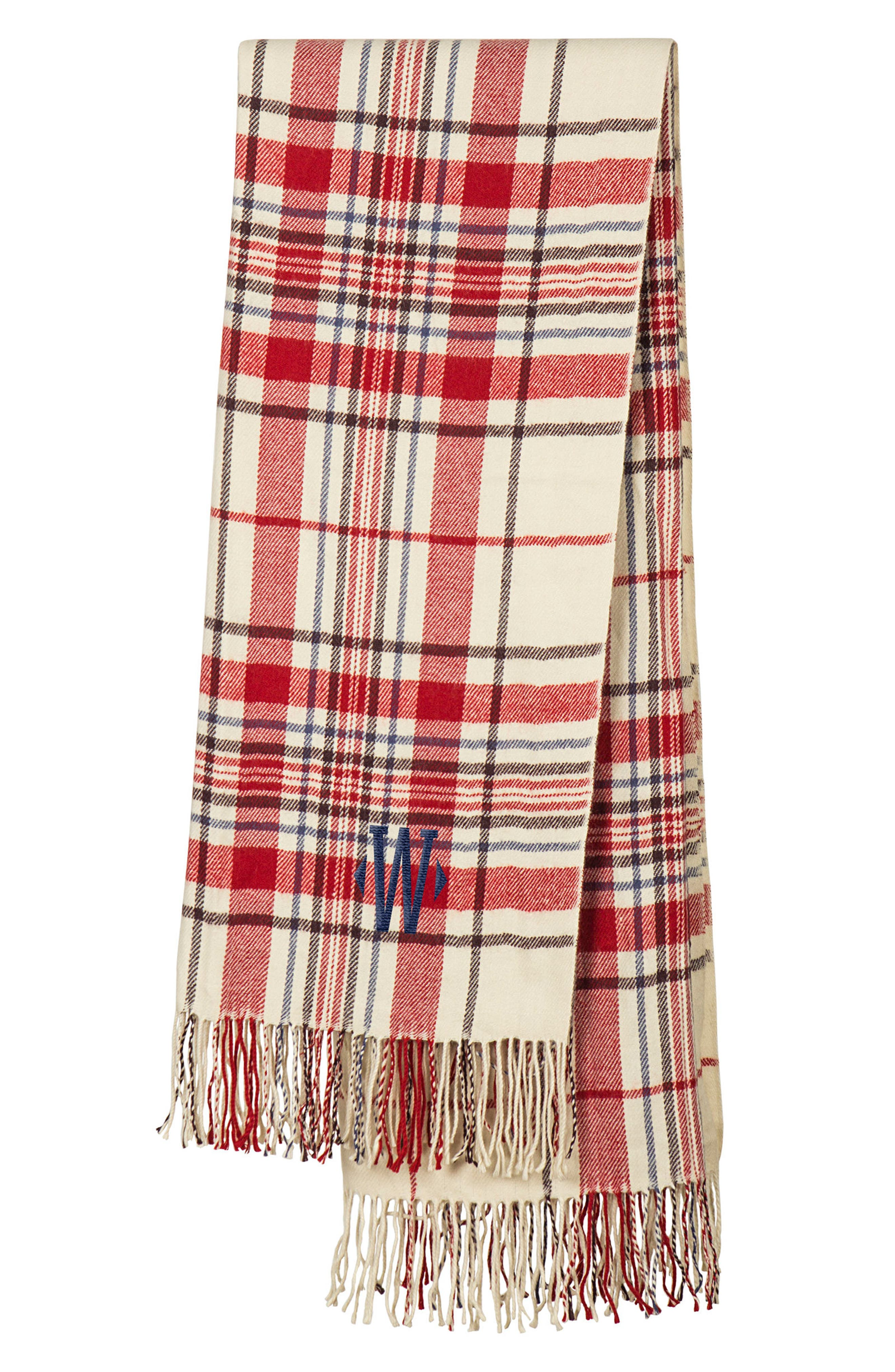Main Image - Cathy's Concepts Monogram Plaid Throw