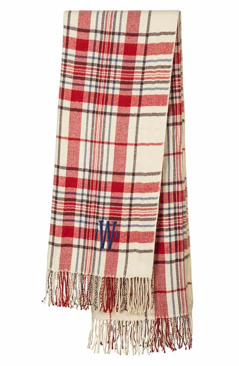 Cathy s Concepts Monogram Plaid Throw. Throw Blankets   Bed Throws   Wool   Fleece   Nordstrom