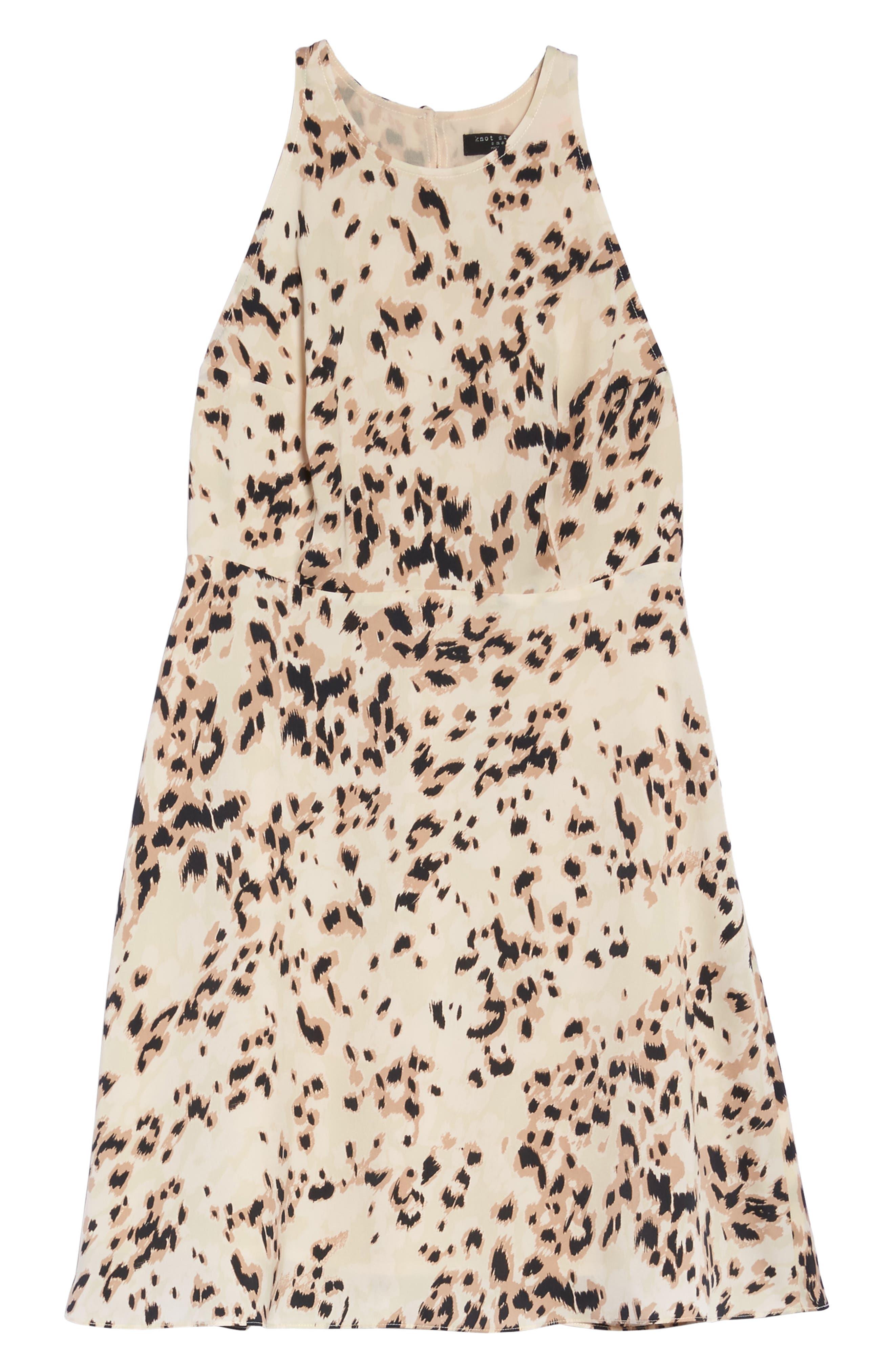 Ingrid Swing Dress,                             Alternate thumbnail 6, color,                             Nude Skins