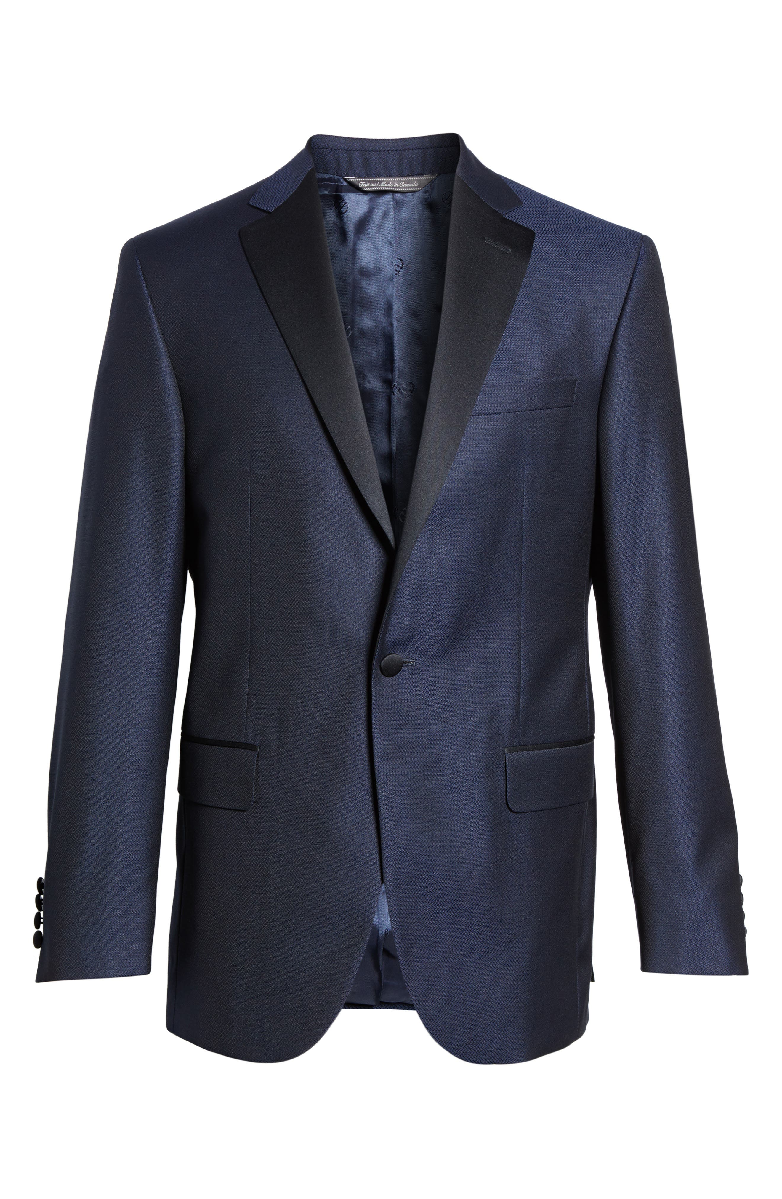 Alternate Image 6  - David Donahue Reed Classic Fit Dinner Jacket