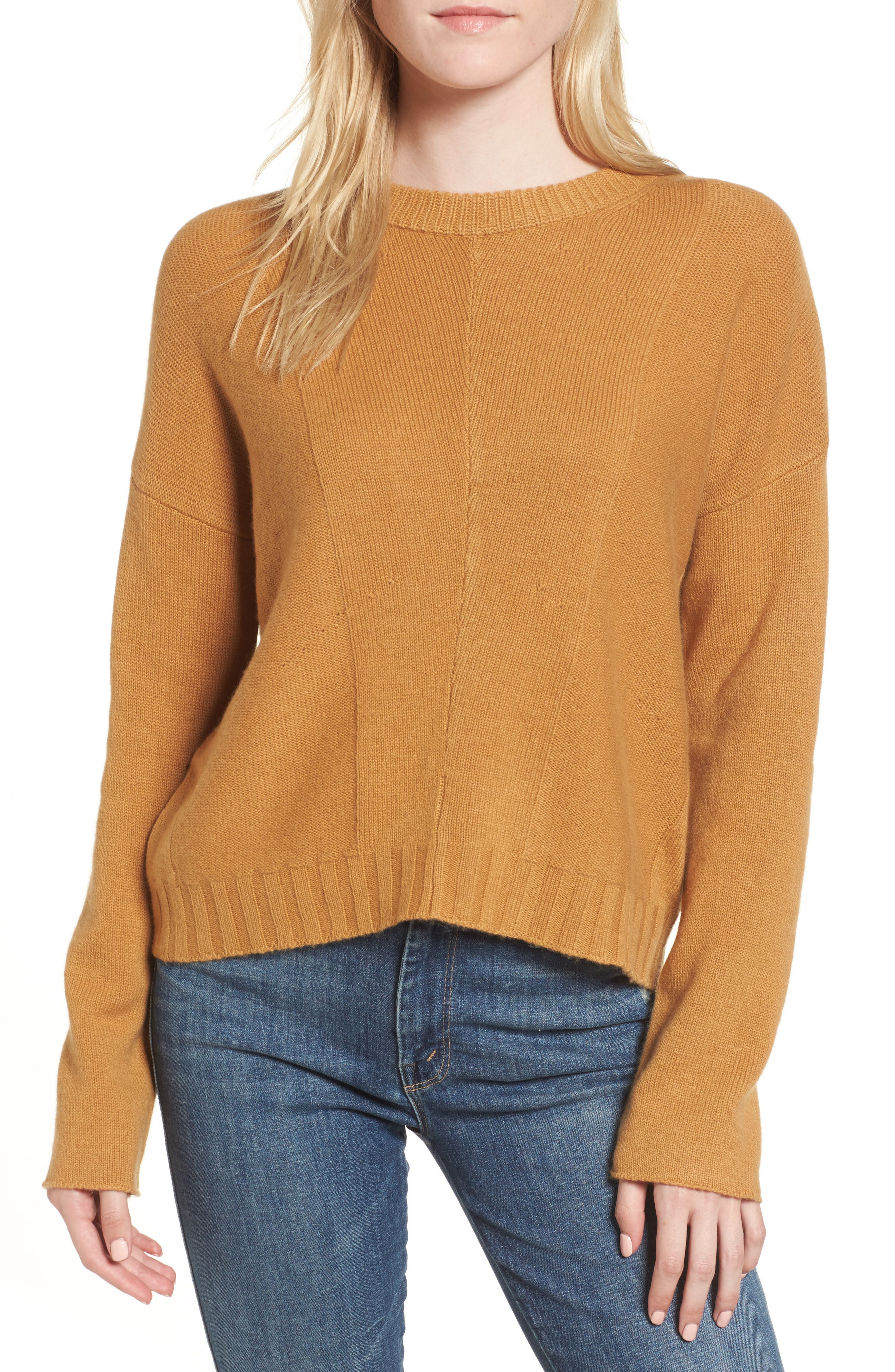Joanna Wool & Cashmere Sweater,                         Main,                         color, Honey Comb