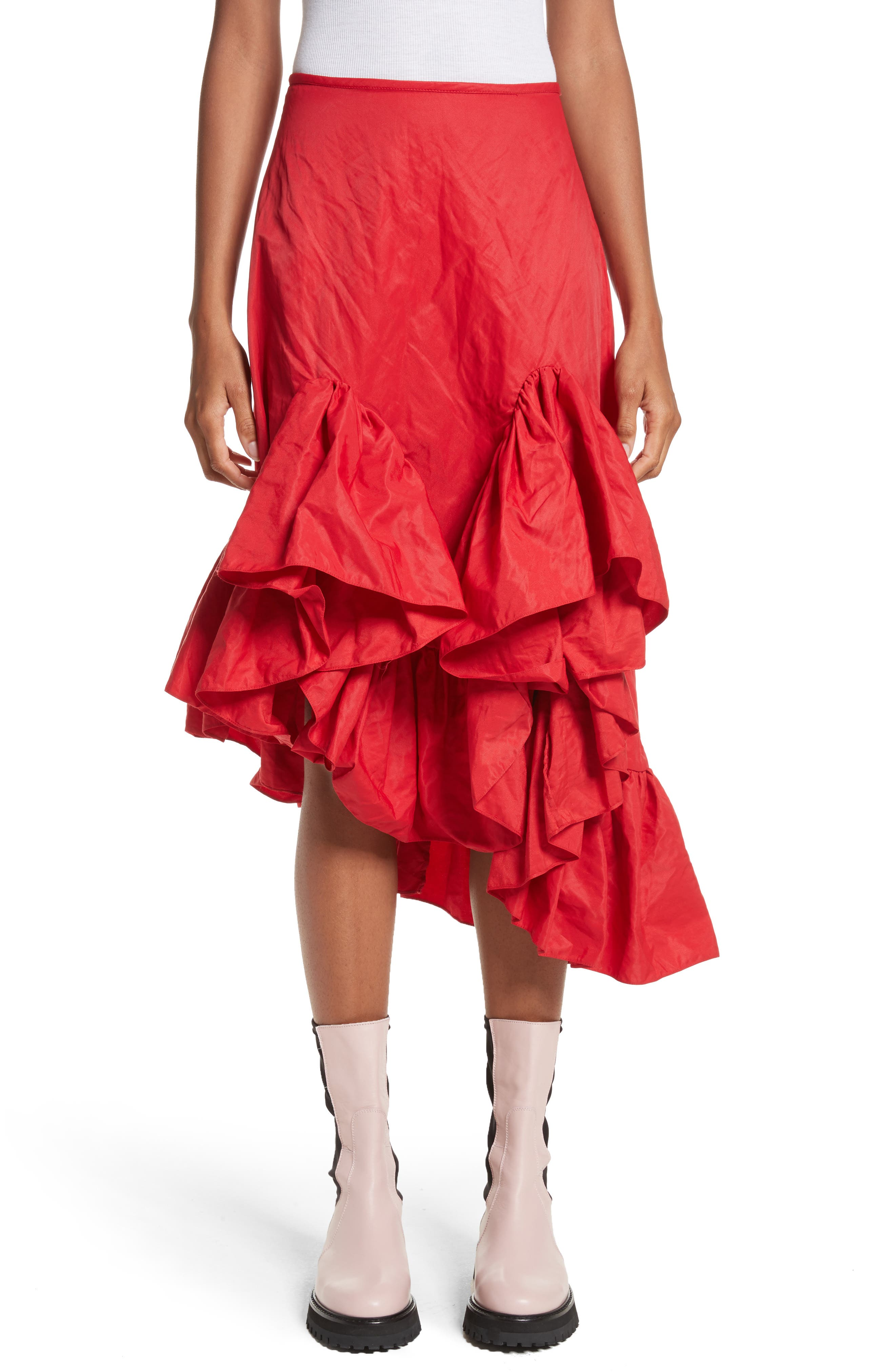 Marques'Almeida Melted Frill Skirt