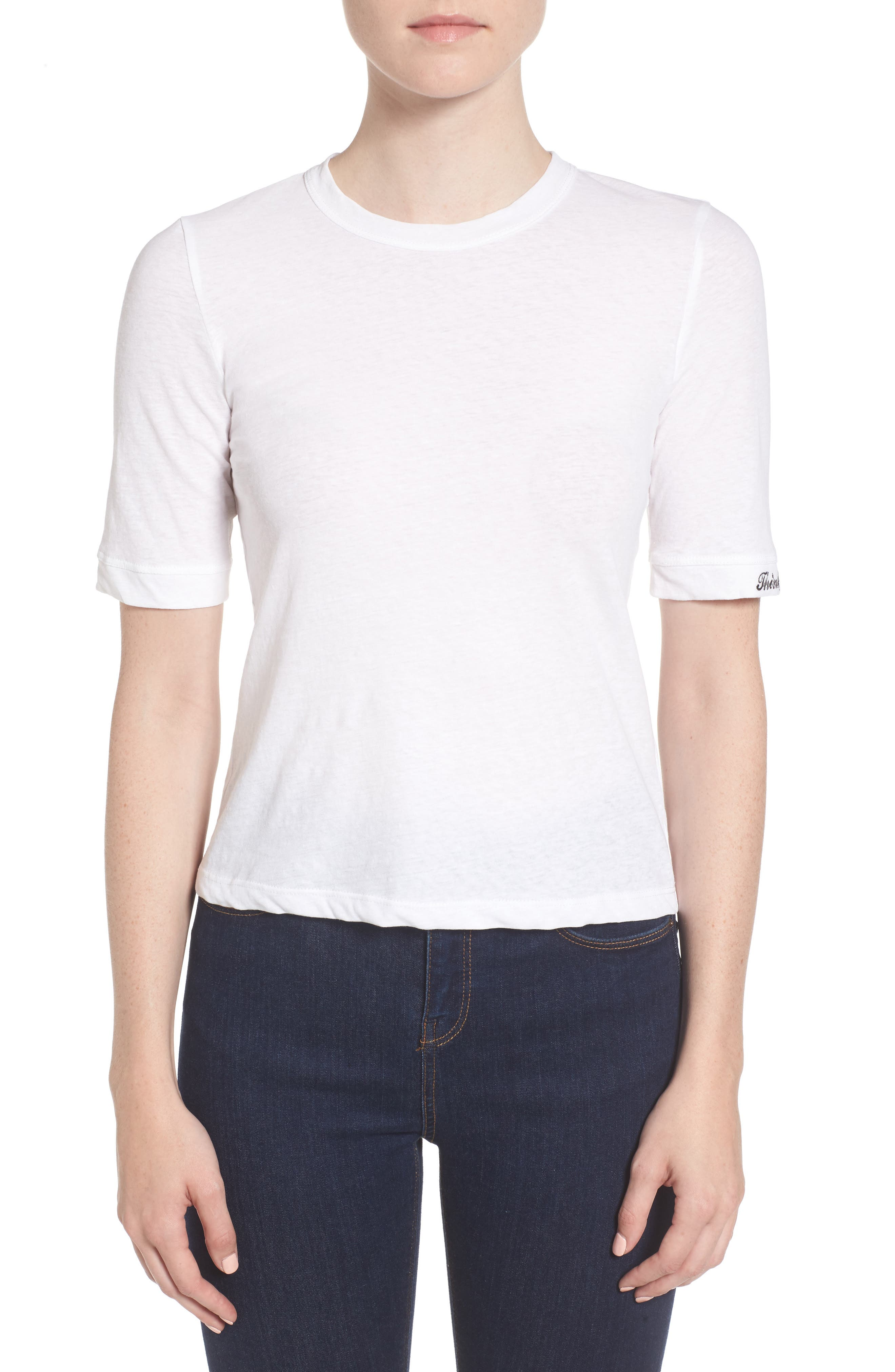 Think How You Can Tee,                         Main,                         color, White