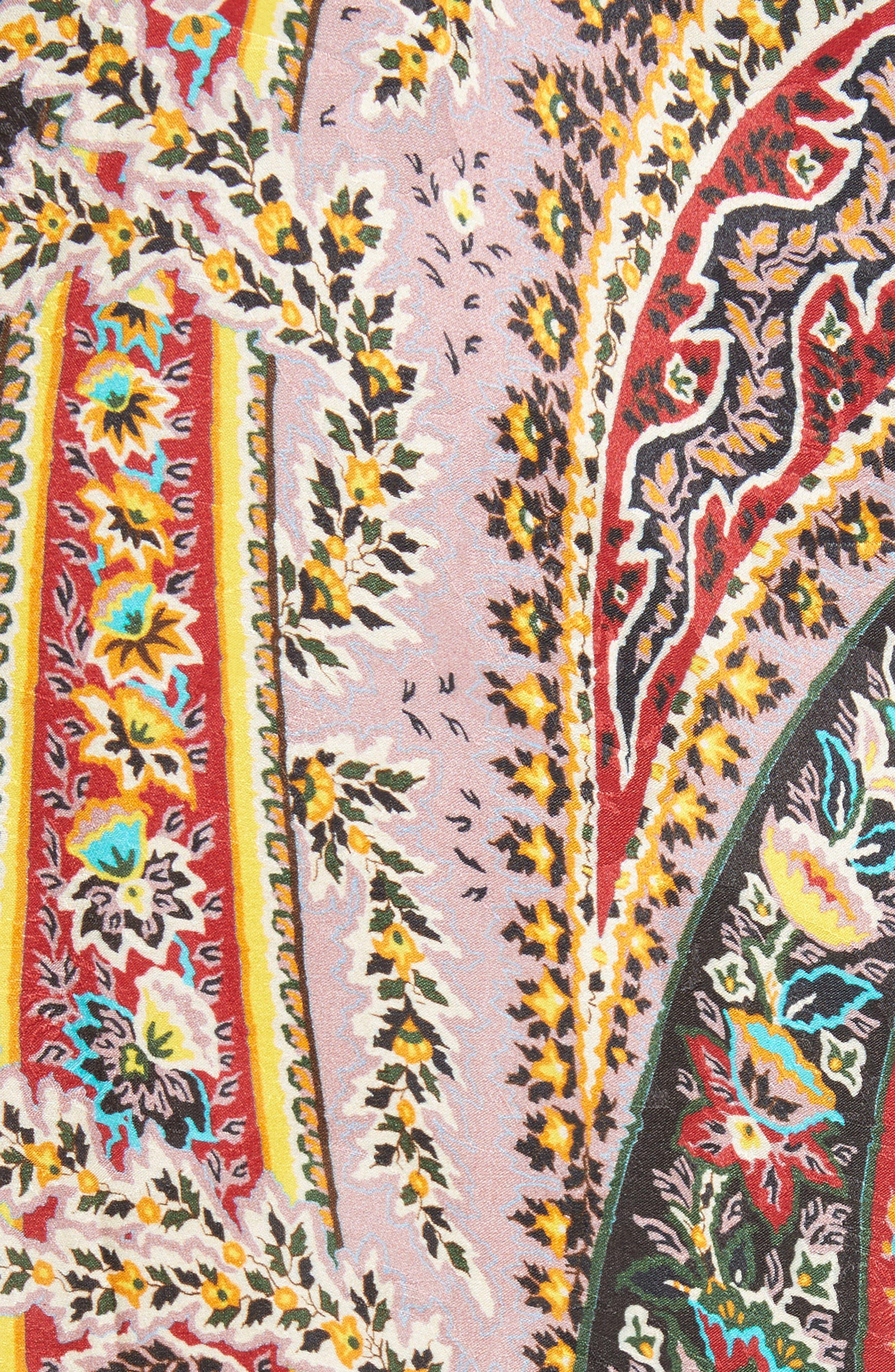 Paisley Print Tunic,                             Alternate thumbnail 5, color,                             Red