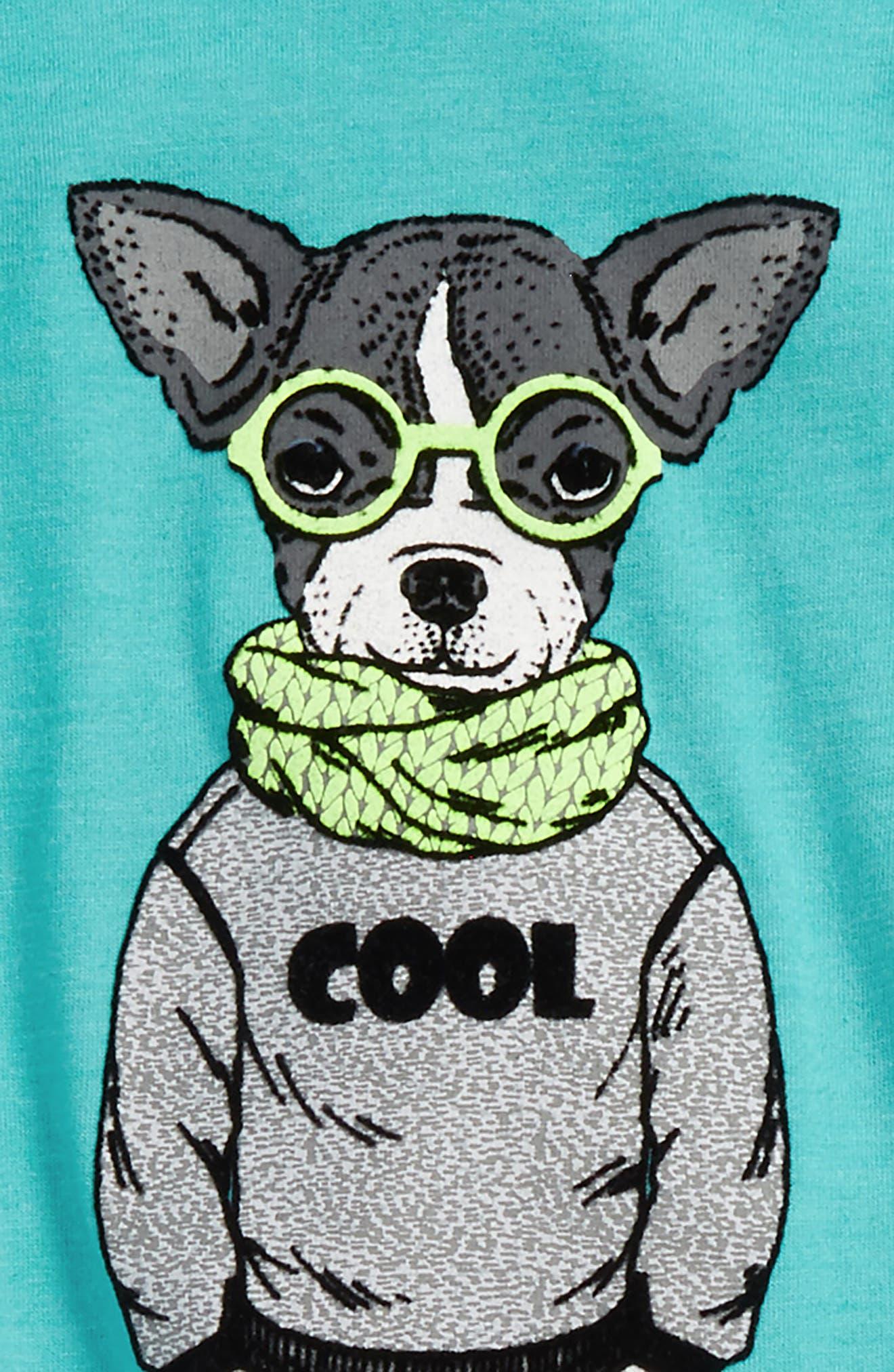 Nerdy Layered Shirt & Sweatpants Set,                             Alternate thumbnail 2, color,                             Mint