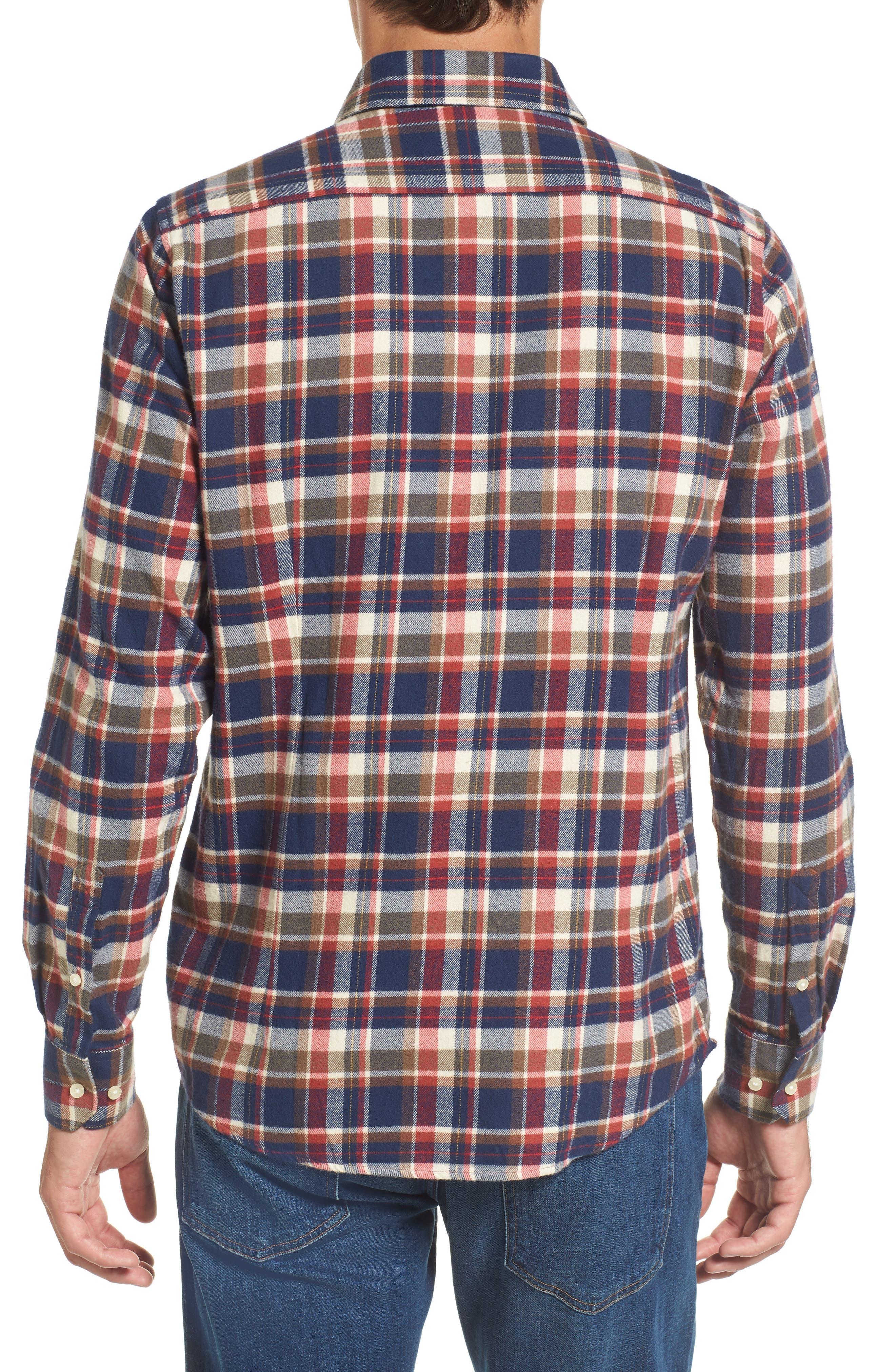 Blake Plaid Sport Shirt,                             Alternate thumbnail 2, color,                             Red