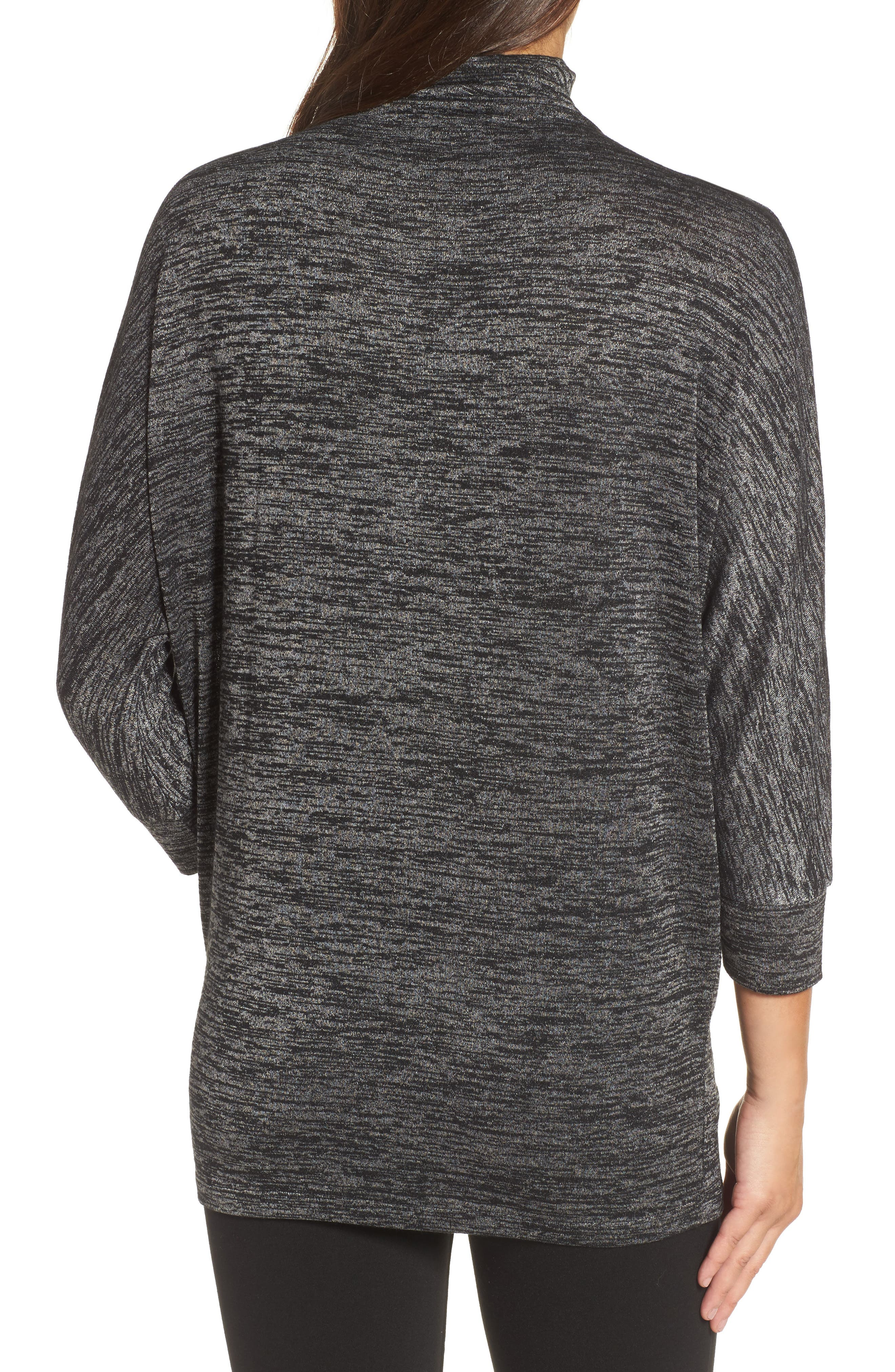 Every Occasion Mockneck Top,                             Alternate thumbnail 2, color,                             Grey Mix