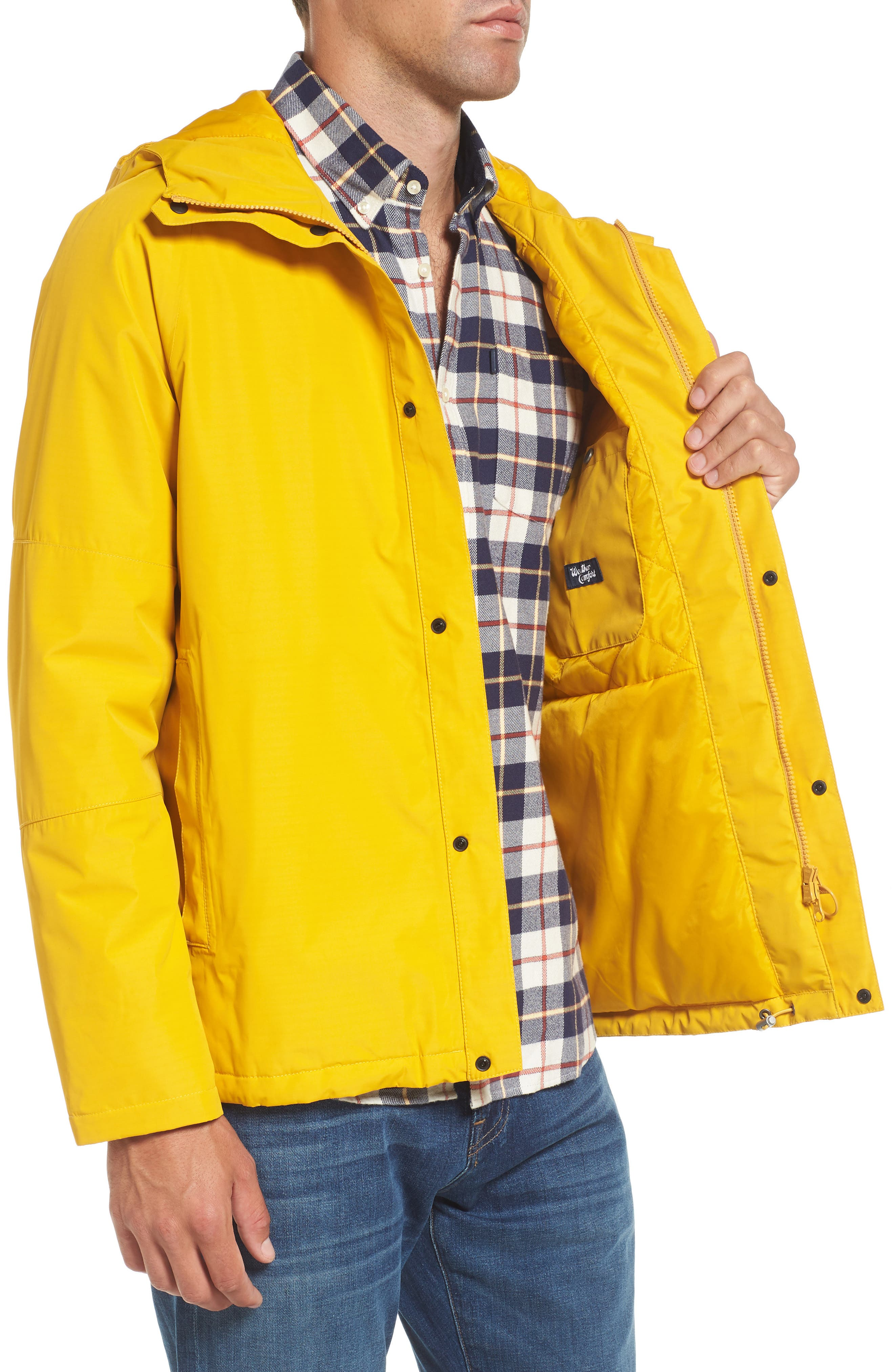 Rydal Waterproof Hooded Jacket,                             Alternate thumbnail 3, color,                             Canary Yellow