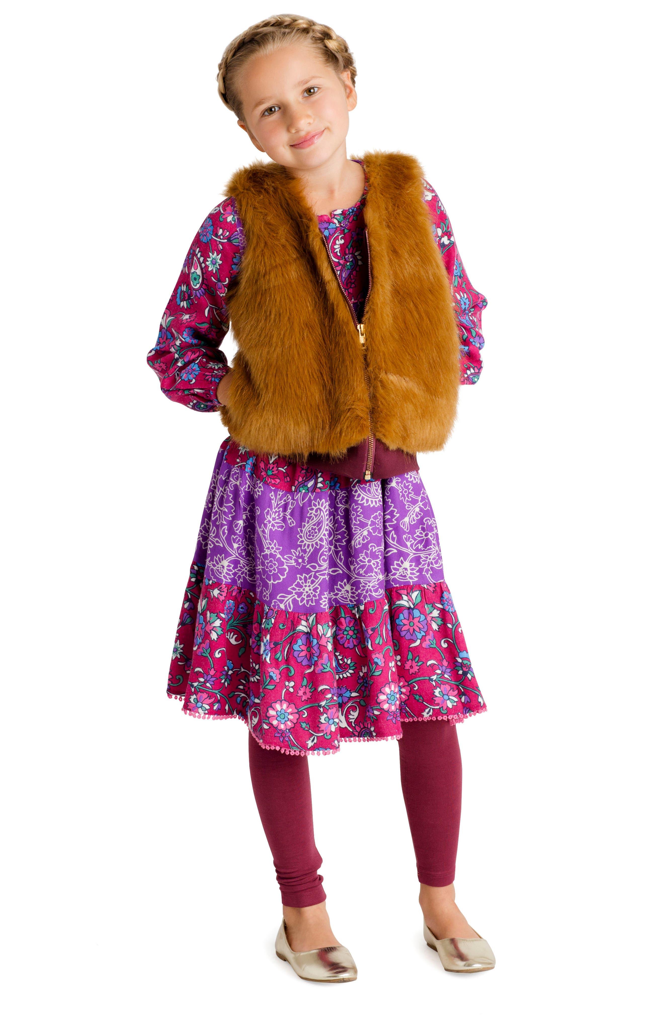 Alternate Image 2  - Masala Baby Faux Fur Vest (Baby Girls, Toddler Girls, Little Girls & Big Girls)