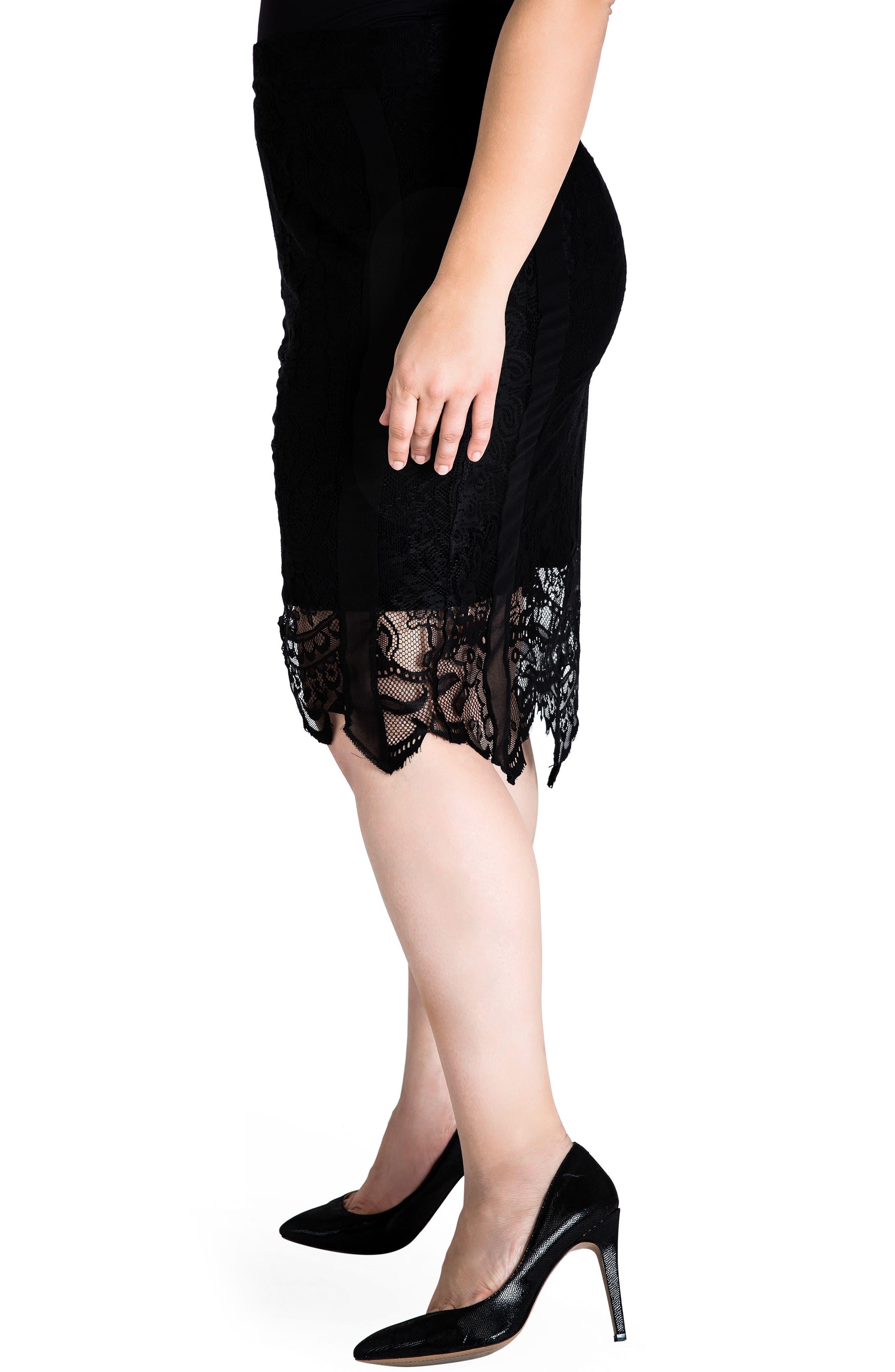 Alternate Image 4  - Standards & Practices Emily Lace Pencil Skirt (Plus Size)
