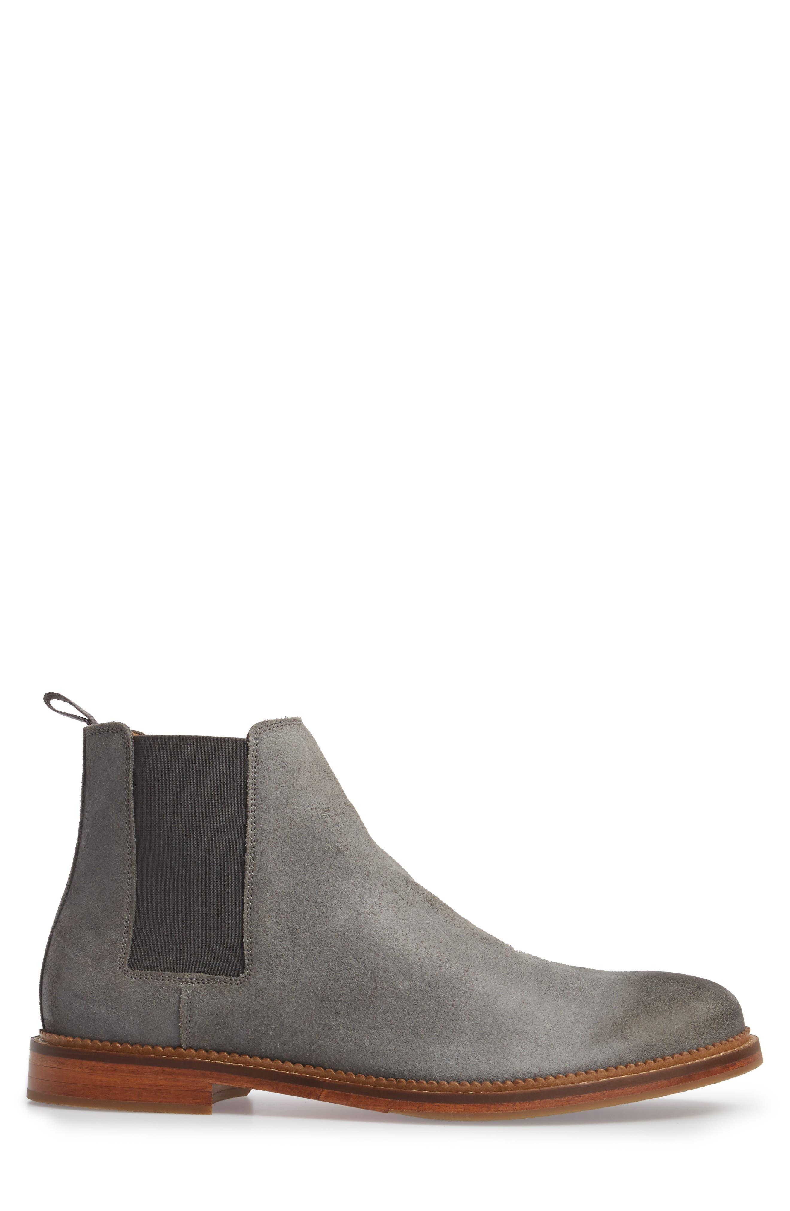 Jamie Chelsea Boot,                             Alternate thumbnail 3, color,                             Magnet Suede
