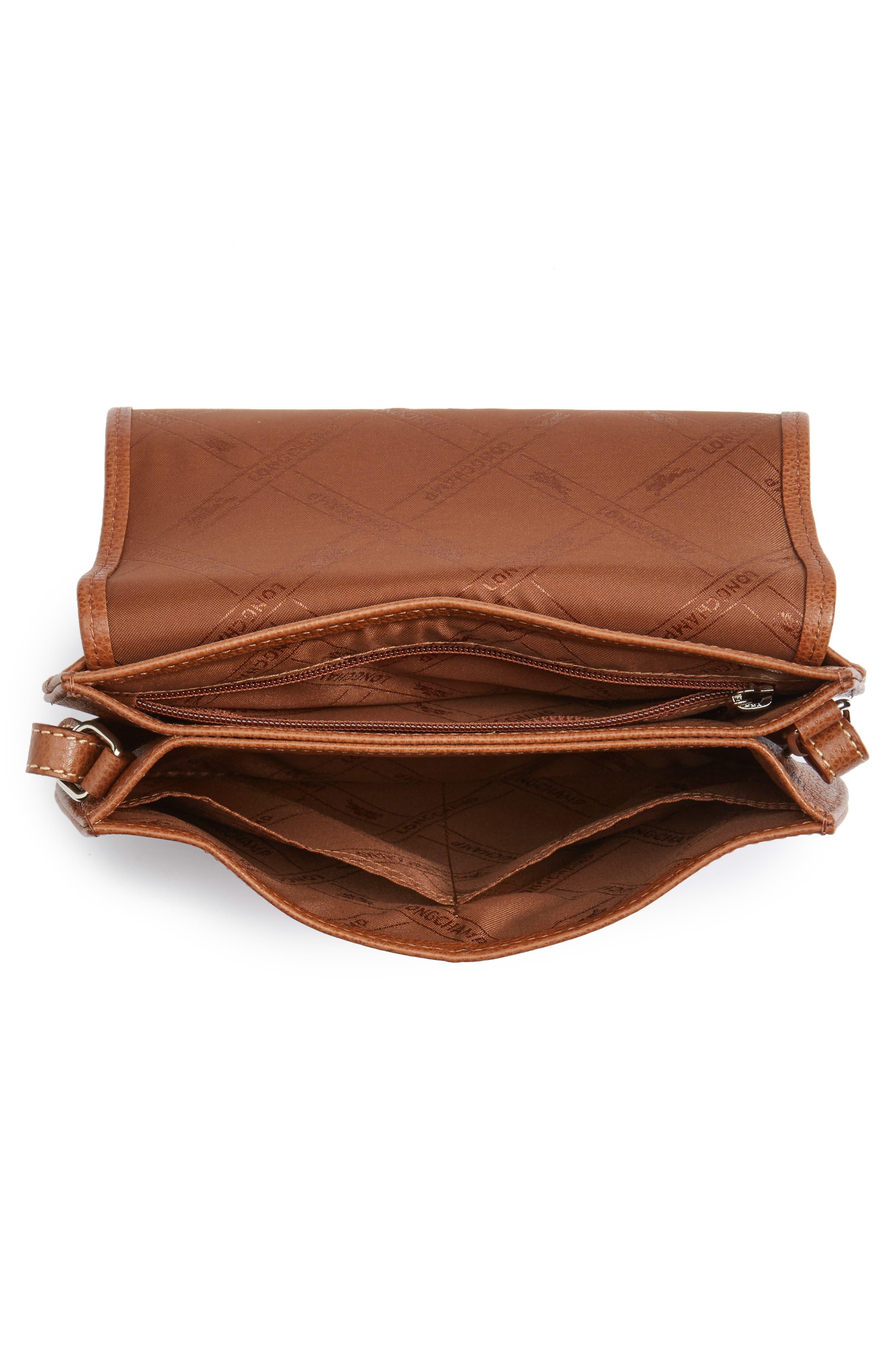 Alternate Image 4  - Longchamp Small Le Foulonne Leather Crossbody Bag