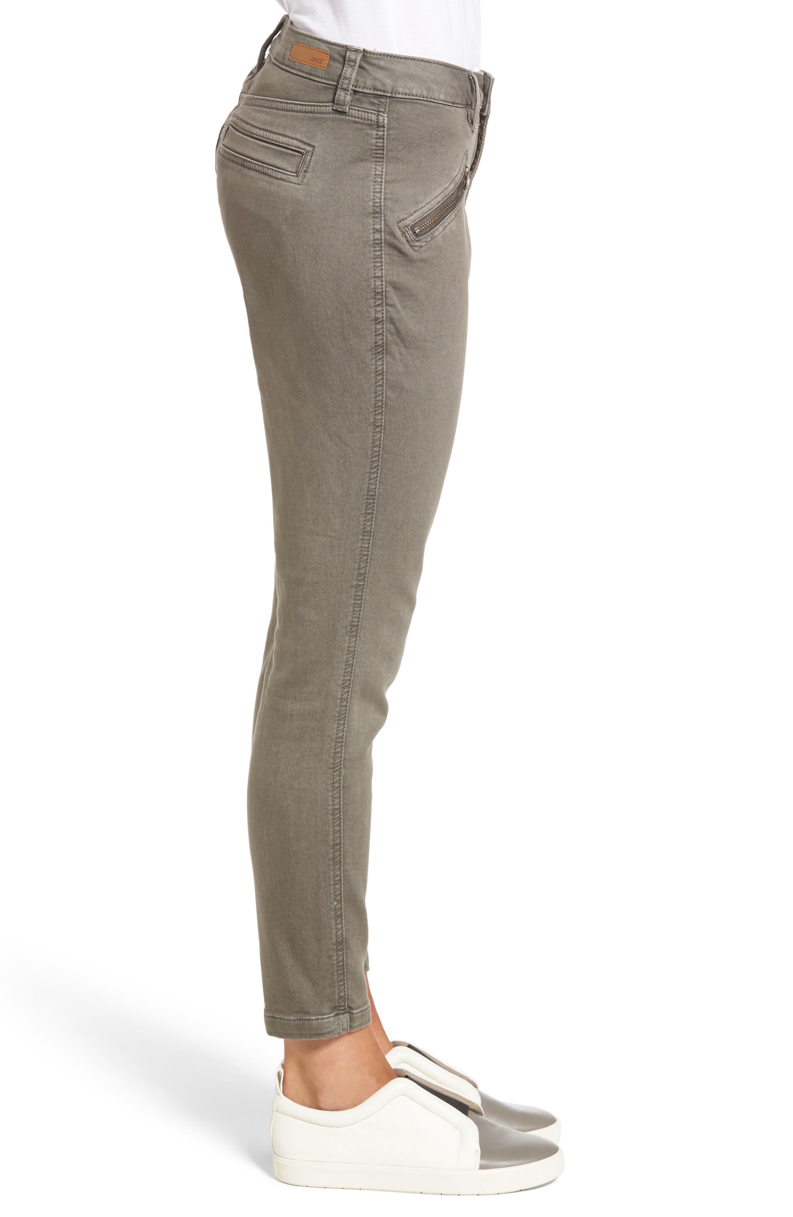 Alternate Image 3  - Jag Jeans Ryan Knit Skinny Jeans (Lava Rock)