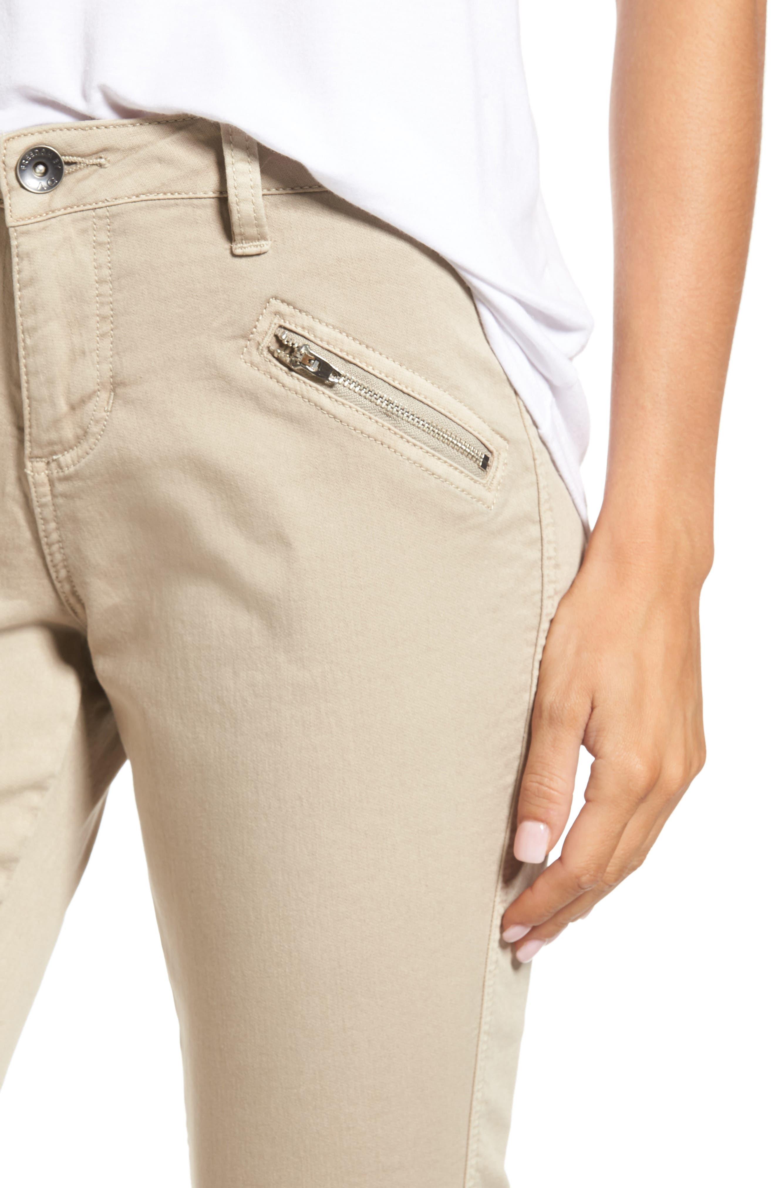 Ryan Knit Skinny Jeans,                             Alternate thumbnail 4, color,                             Birchwood