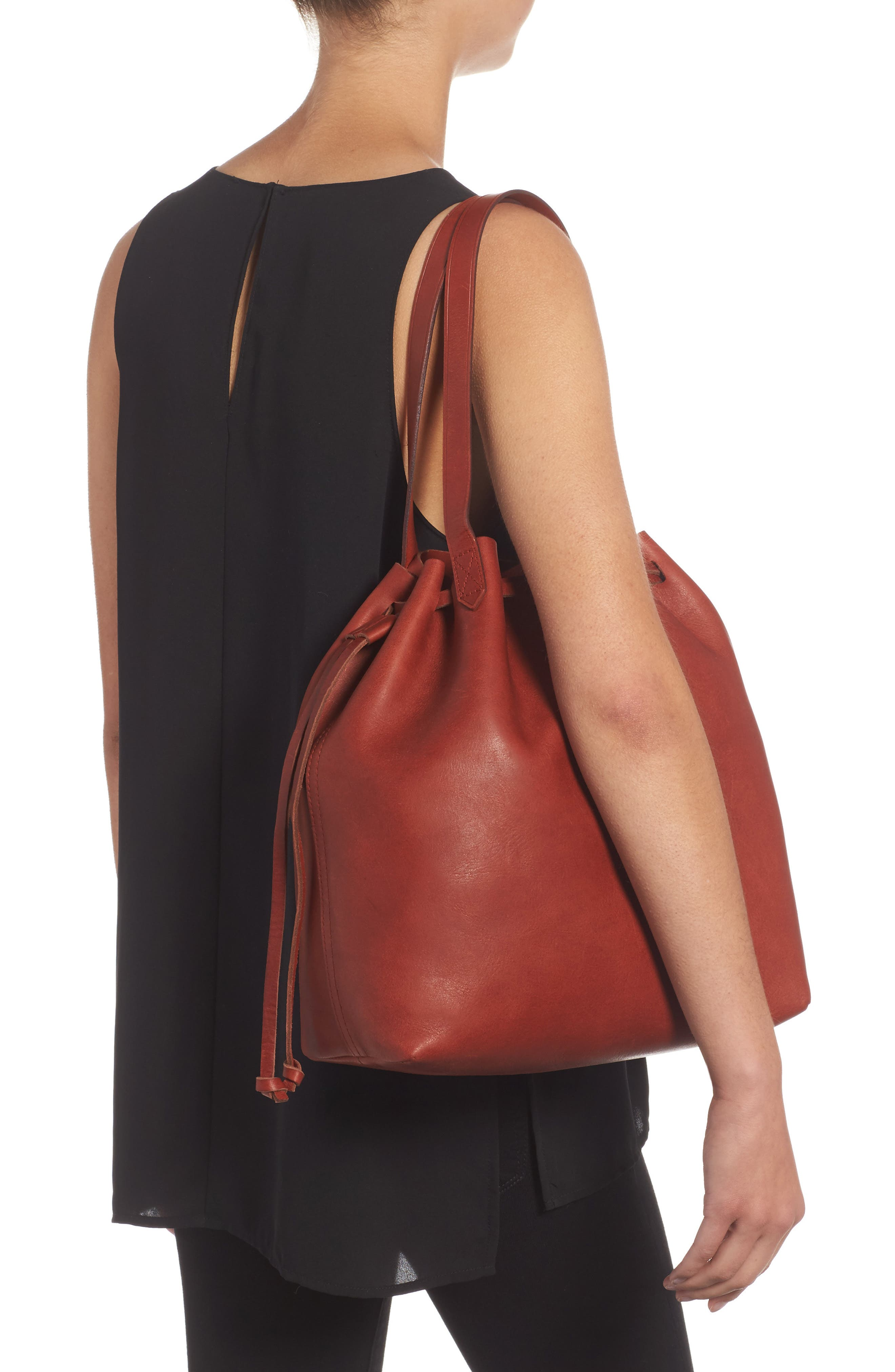 Alternate Image 2  - Madewell Medium Transport Leather Bucket Bag