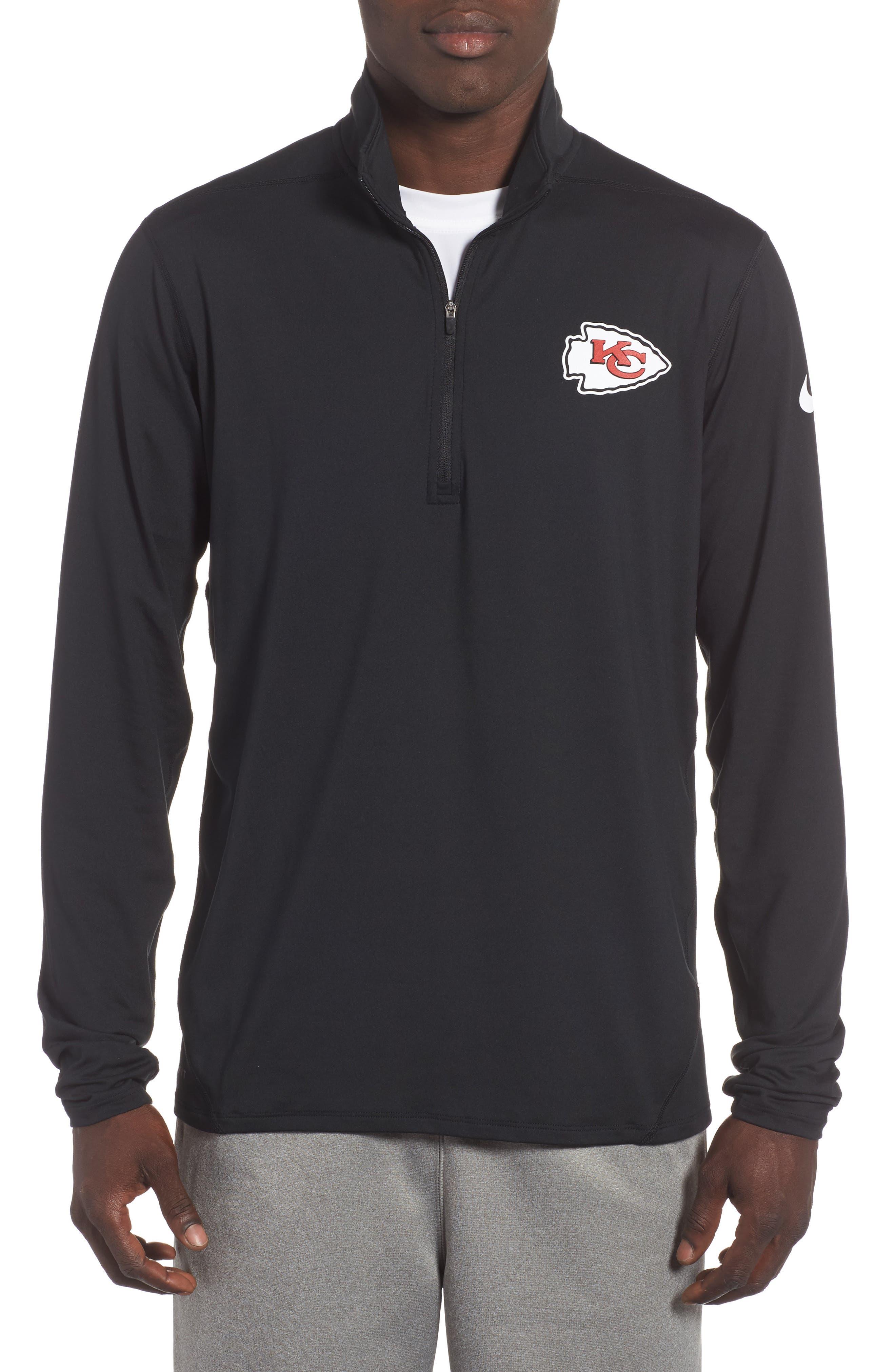 Alternate Image 1 Selected - Nike NFL Team Element Quarter Zip Pullover