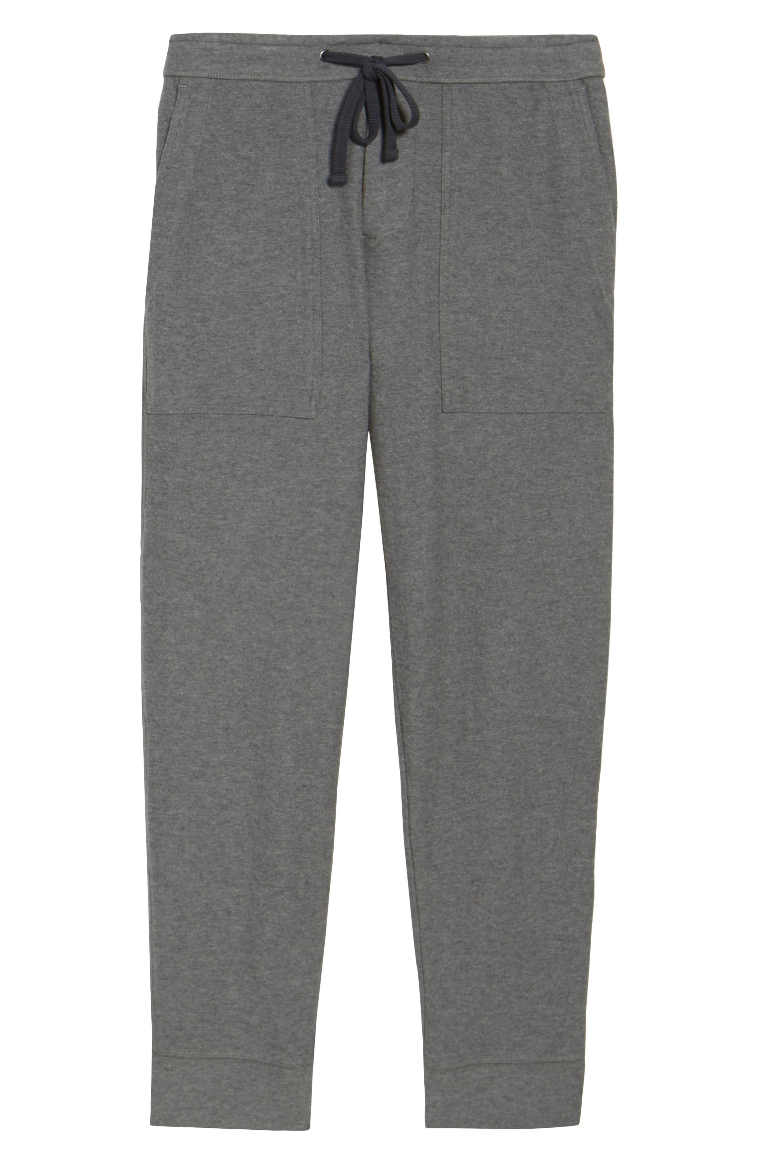 Heathered Knit Lounge Pants,                             Alternate thumbnail 5, color,                             Heather Grey