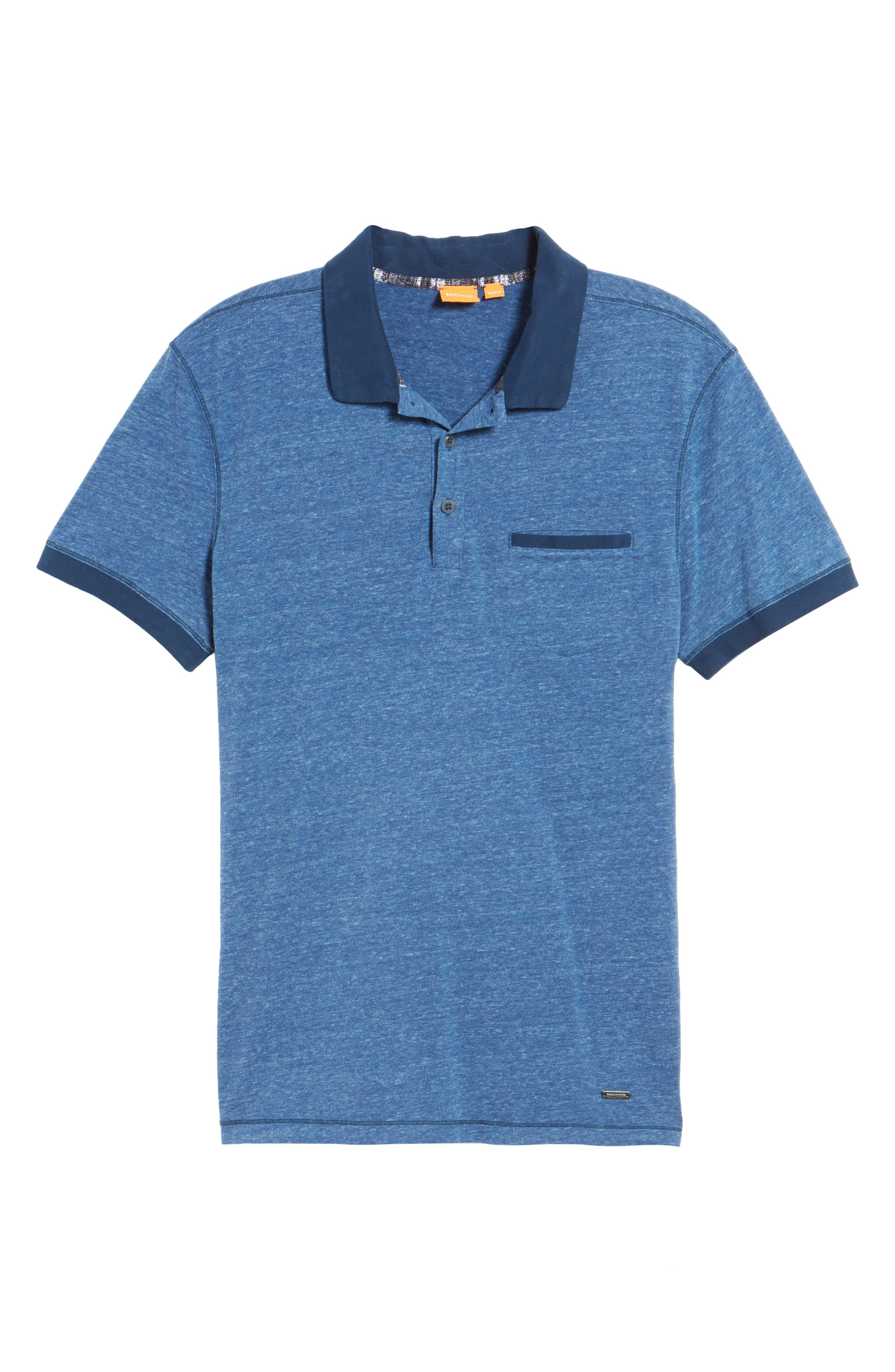 BOSS Orange Push Heathered Polo