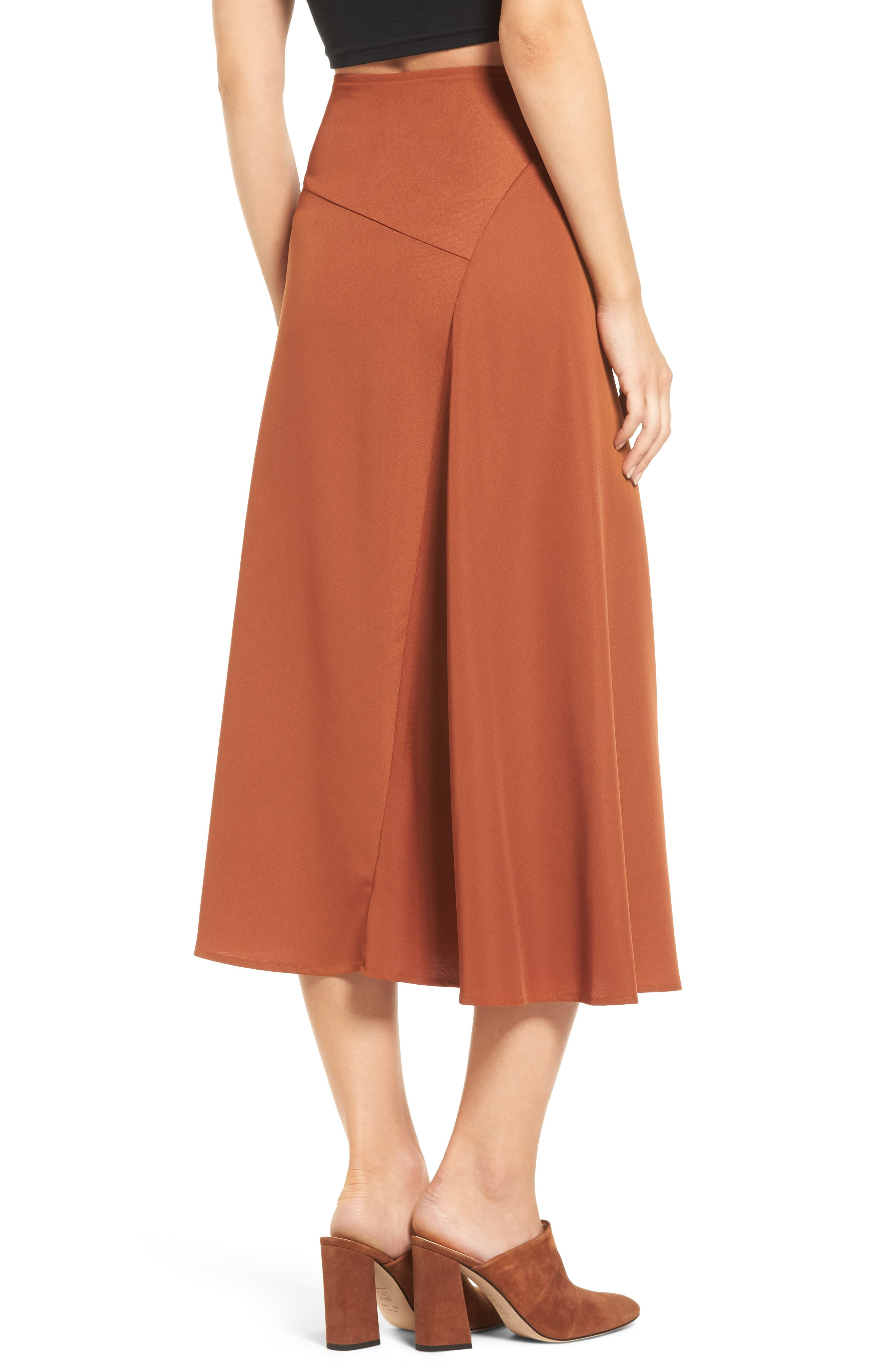 Alternate Image 2  - J.O.A. Belted Midi Skirt