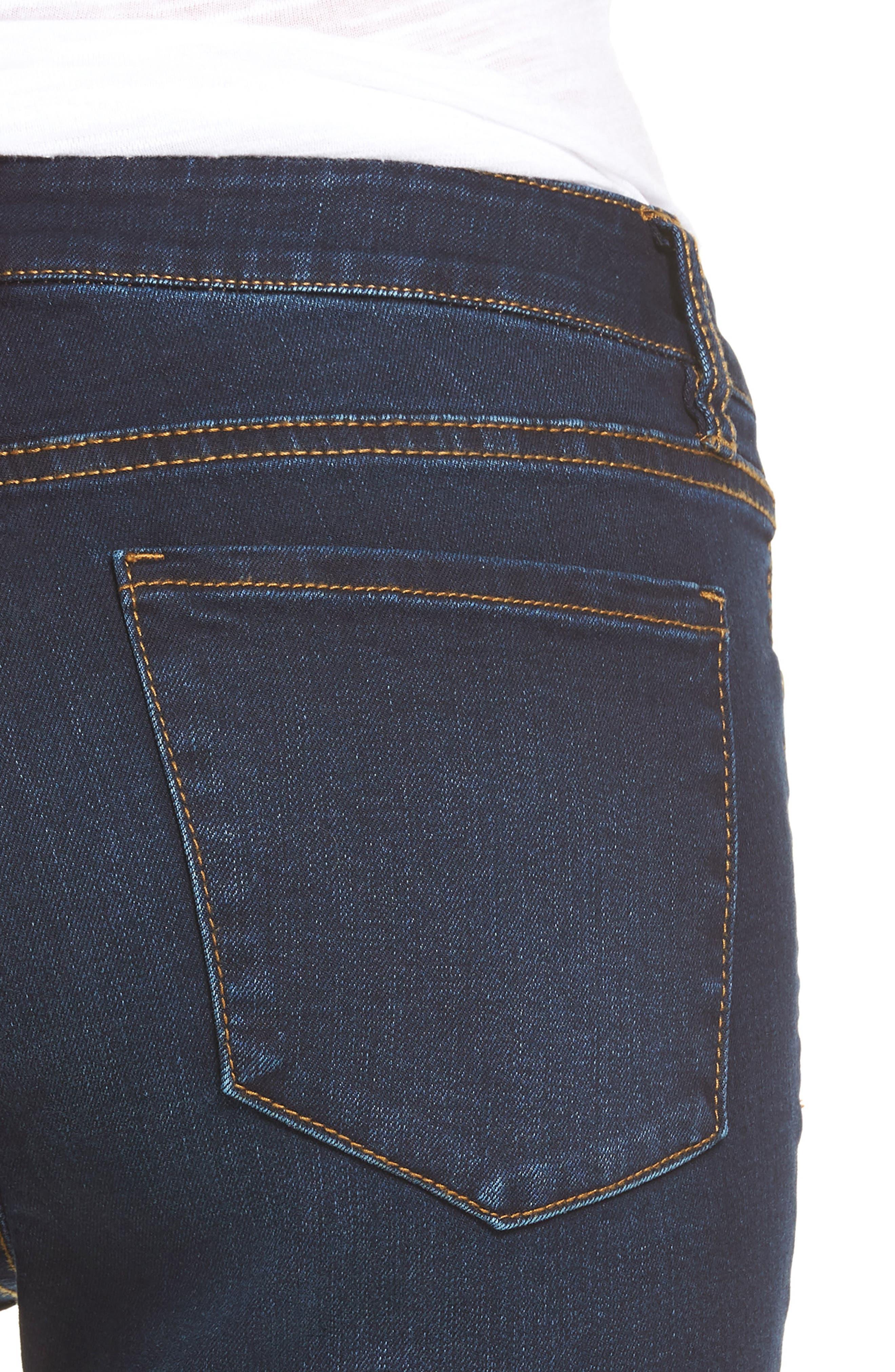 Ankle Skinny Jeans,                             Alternate thumbnail 4, color,                             Dark Wash