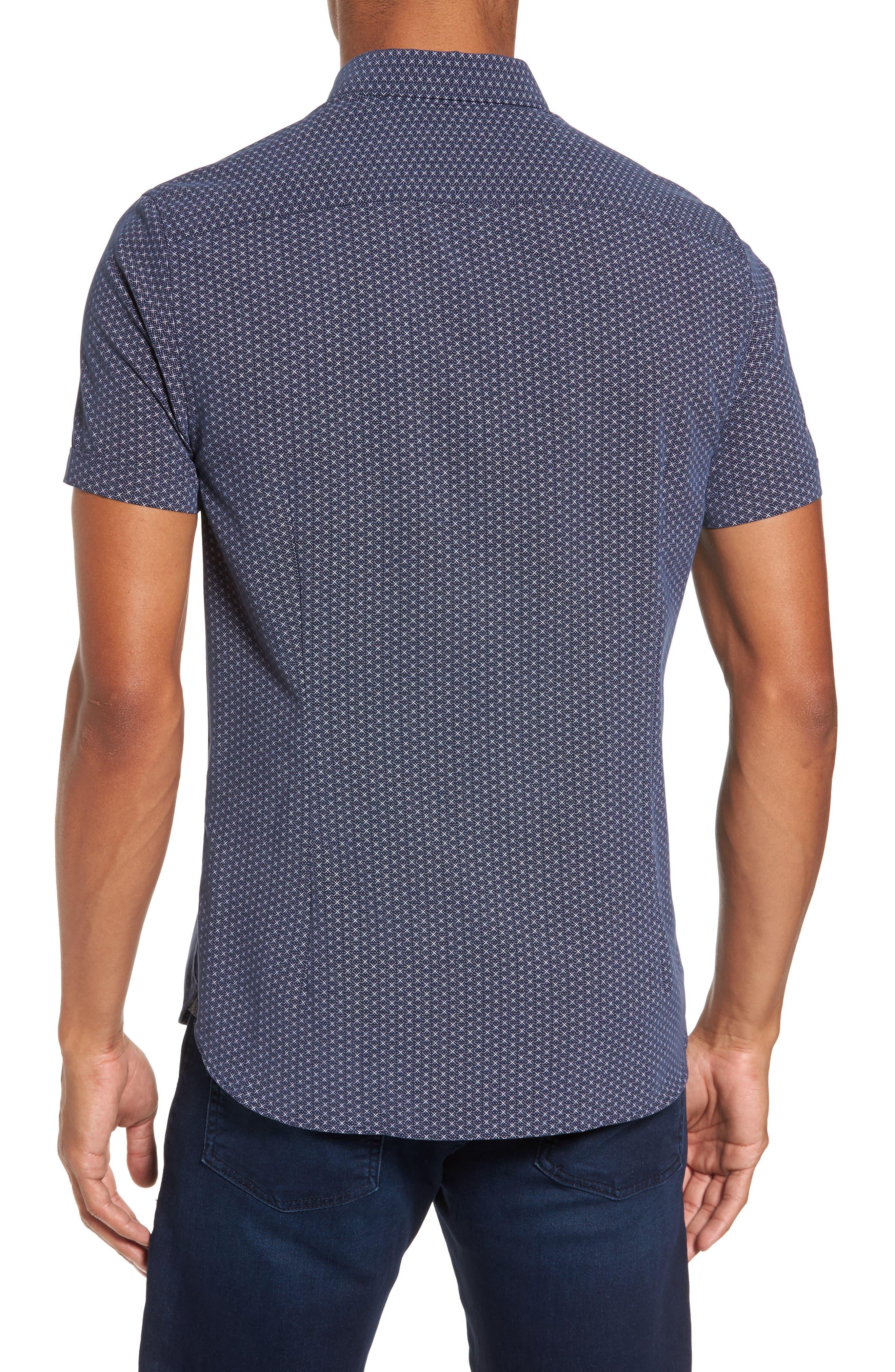 Alternate Image 2  - Ted Baker London Geo Polynosic Slim Fit Woven Shirt
