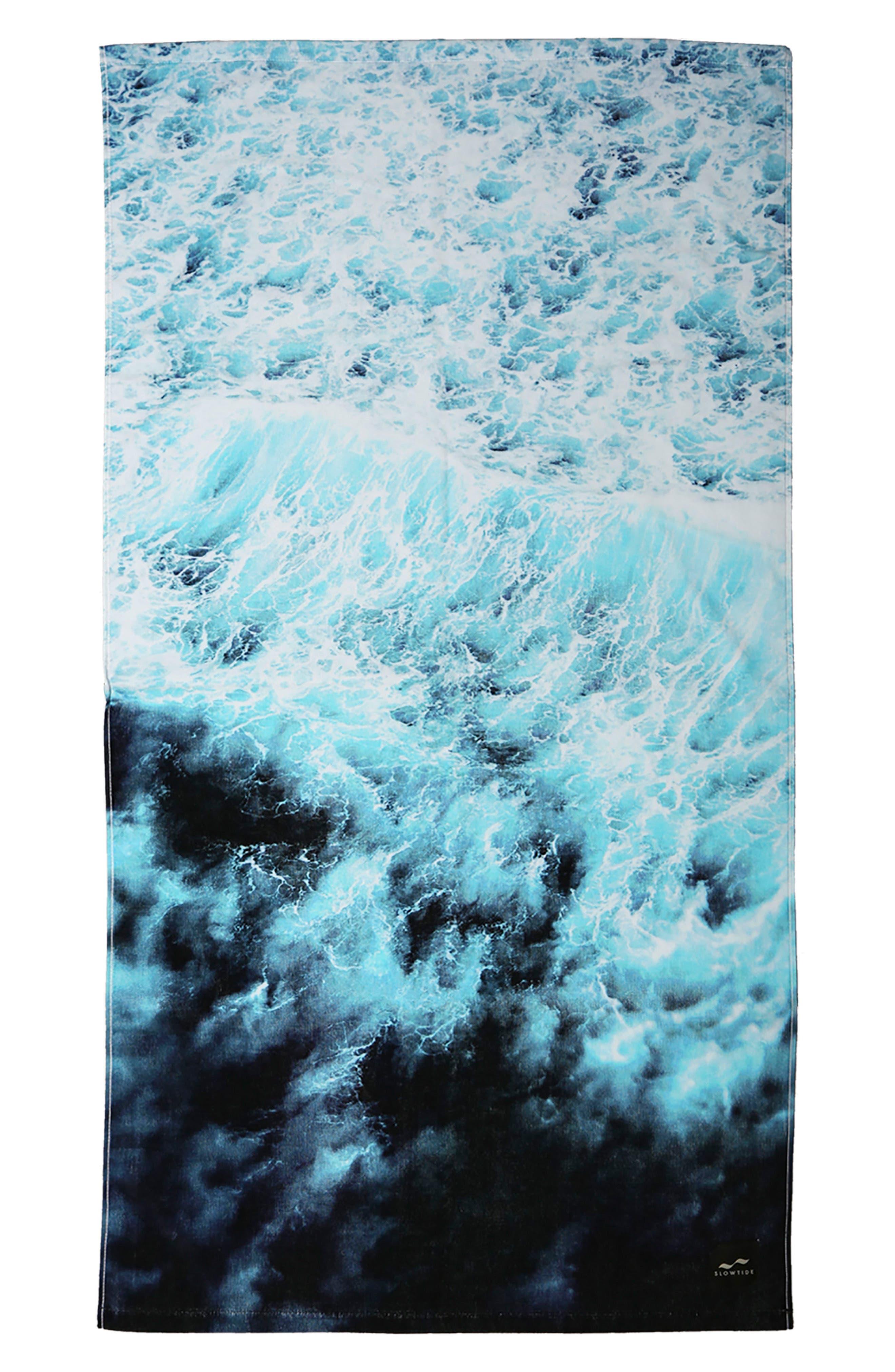 Washout Beach Towel,                         Main,                         color, Blue