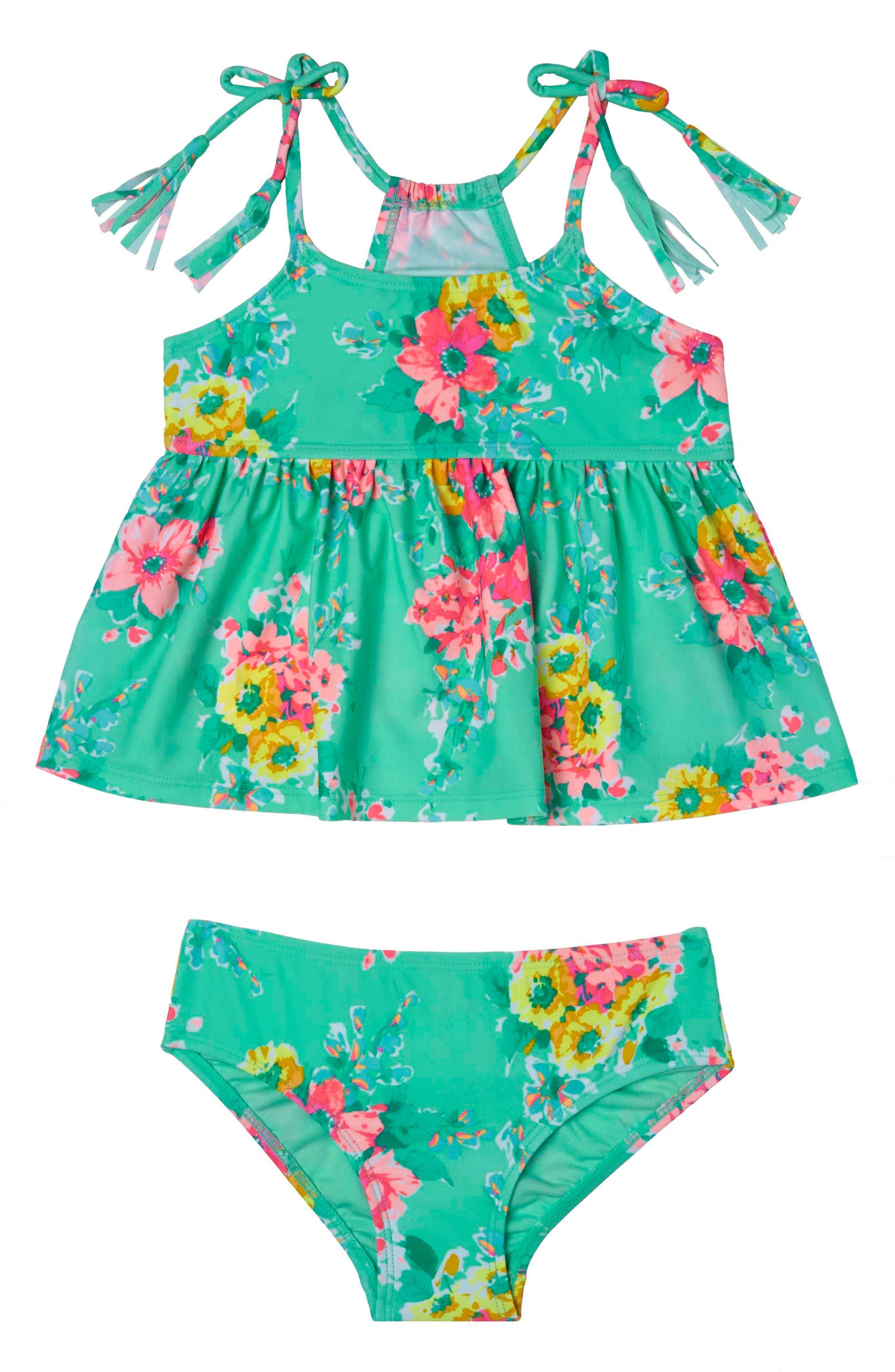 Alternate Image 1 Selected - Hula Star Garden Dream Two-Piece Swimsuit (Toddler Girls & Little Girls)