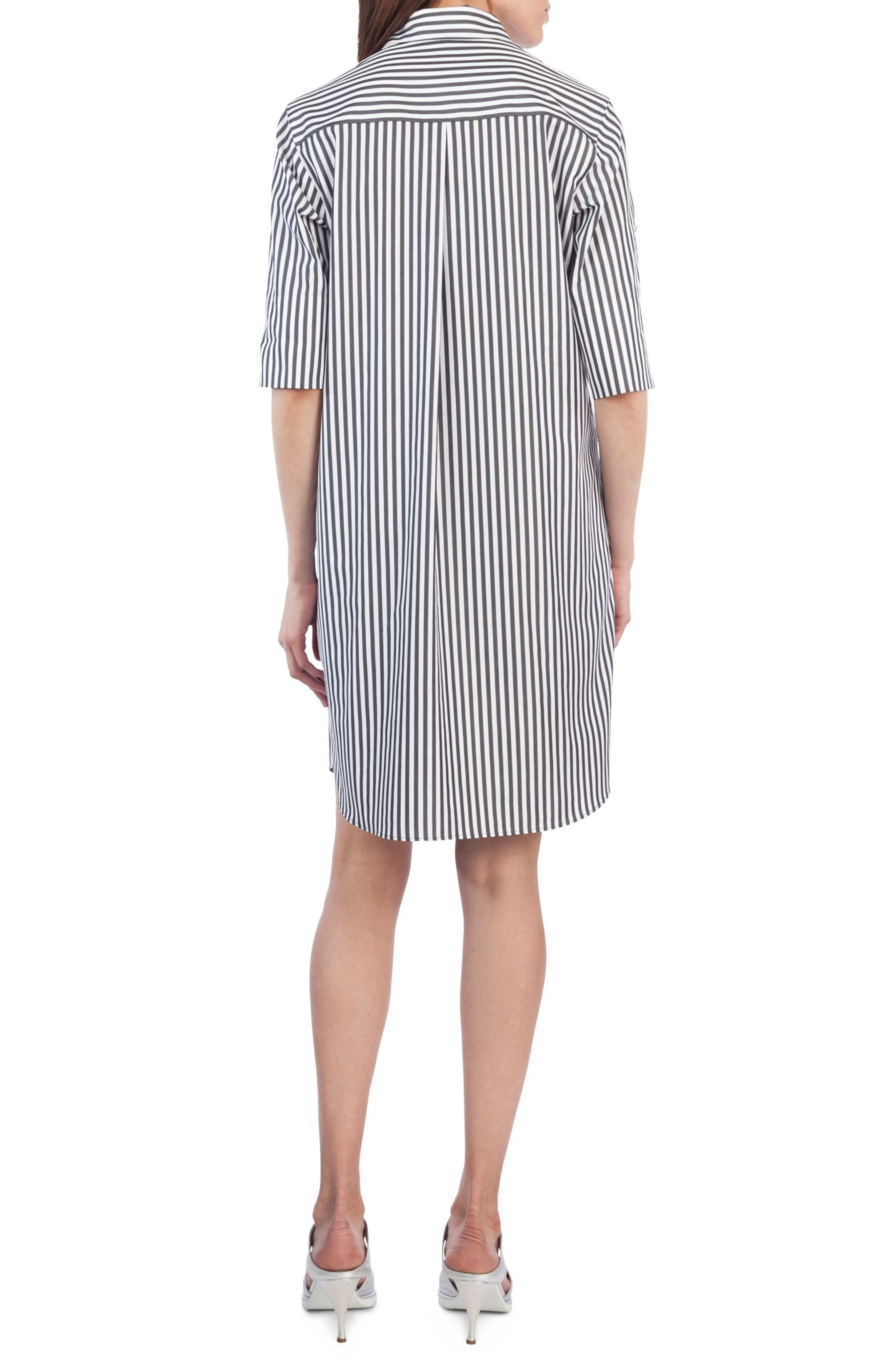 Alternate Image 2  - Akris punto Stripe Cotton Shirtdress