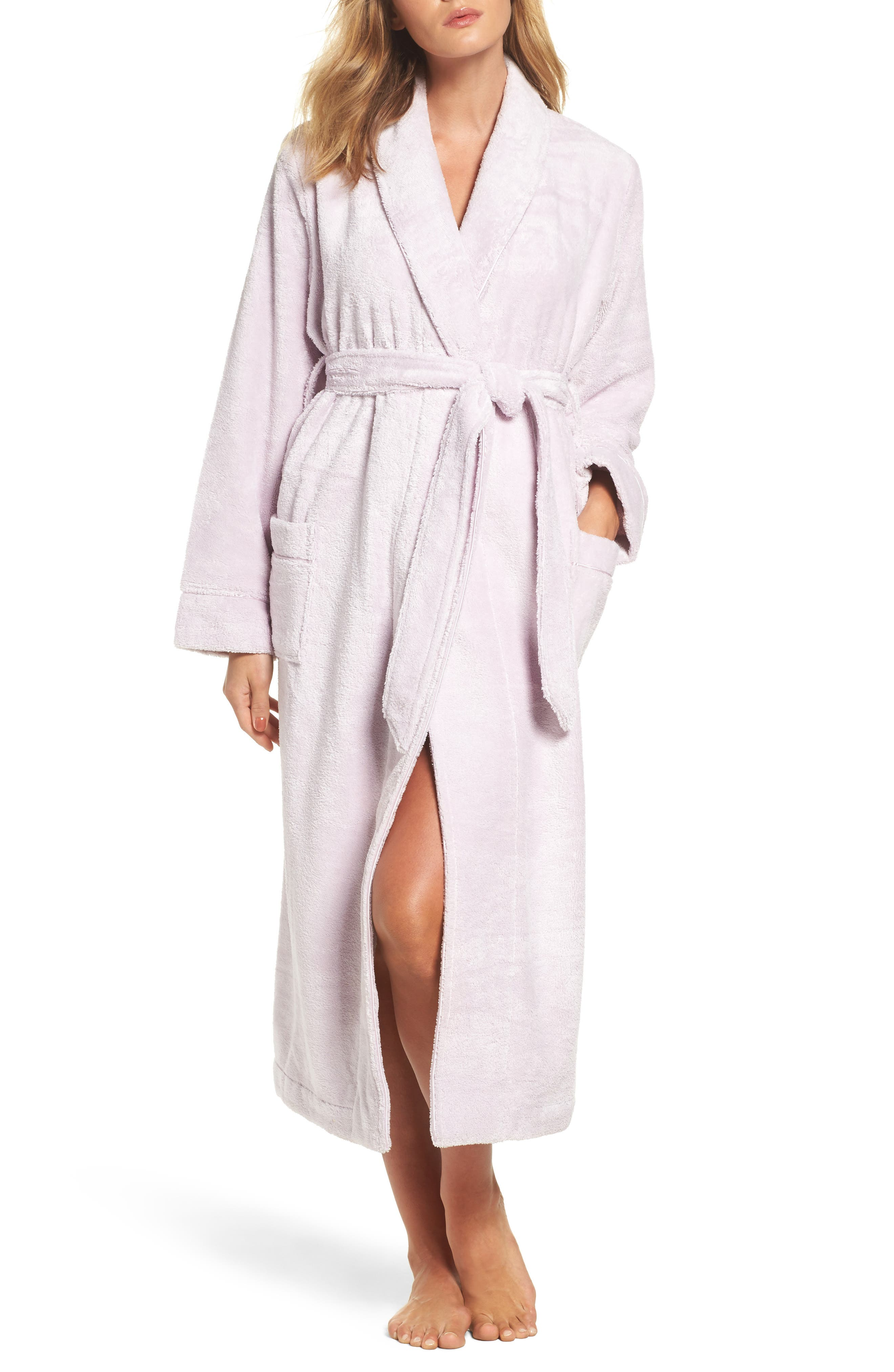 Terry Velour Robe,                         Main,                         color, Purple Shell