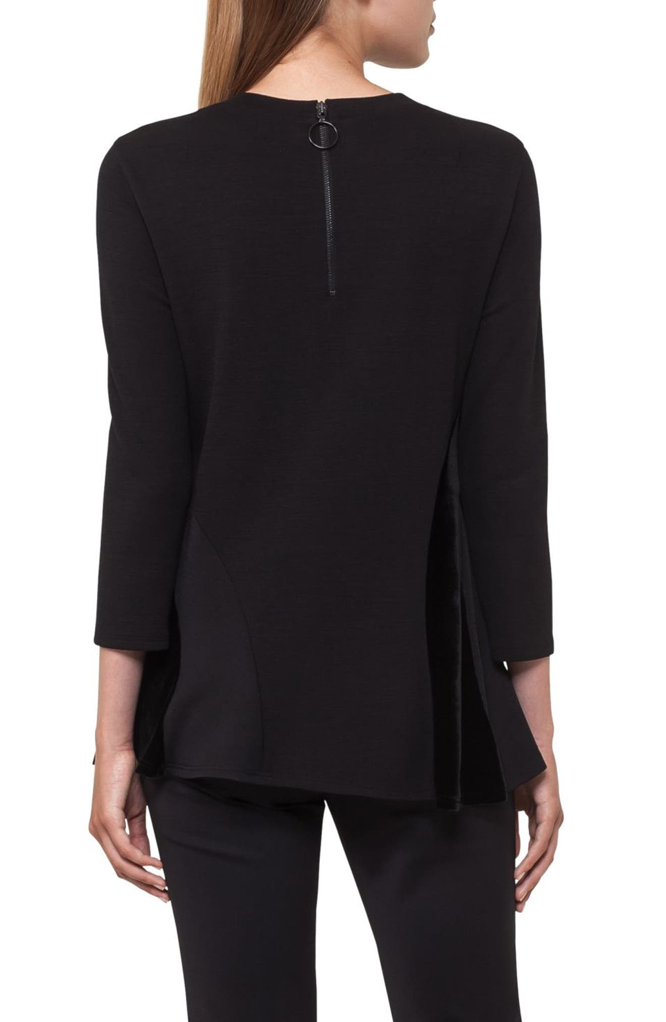 Quad Circle Sweatshirt,                             Alternate thumbnail 2, color,                             Black