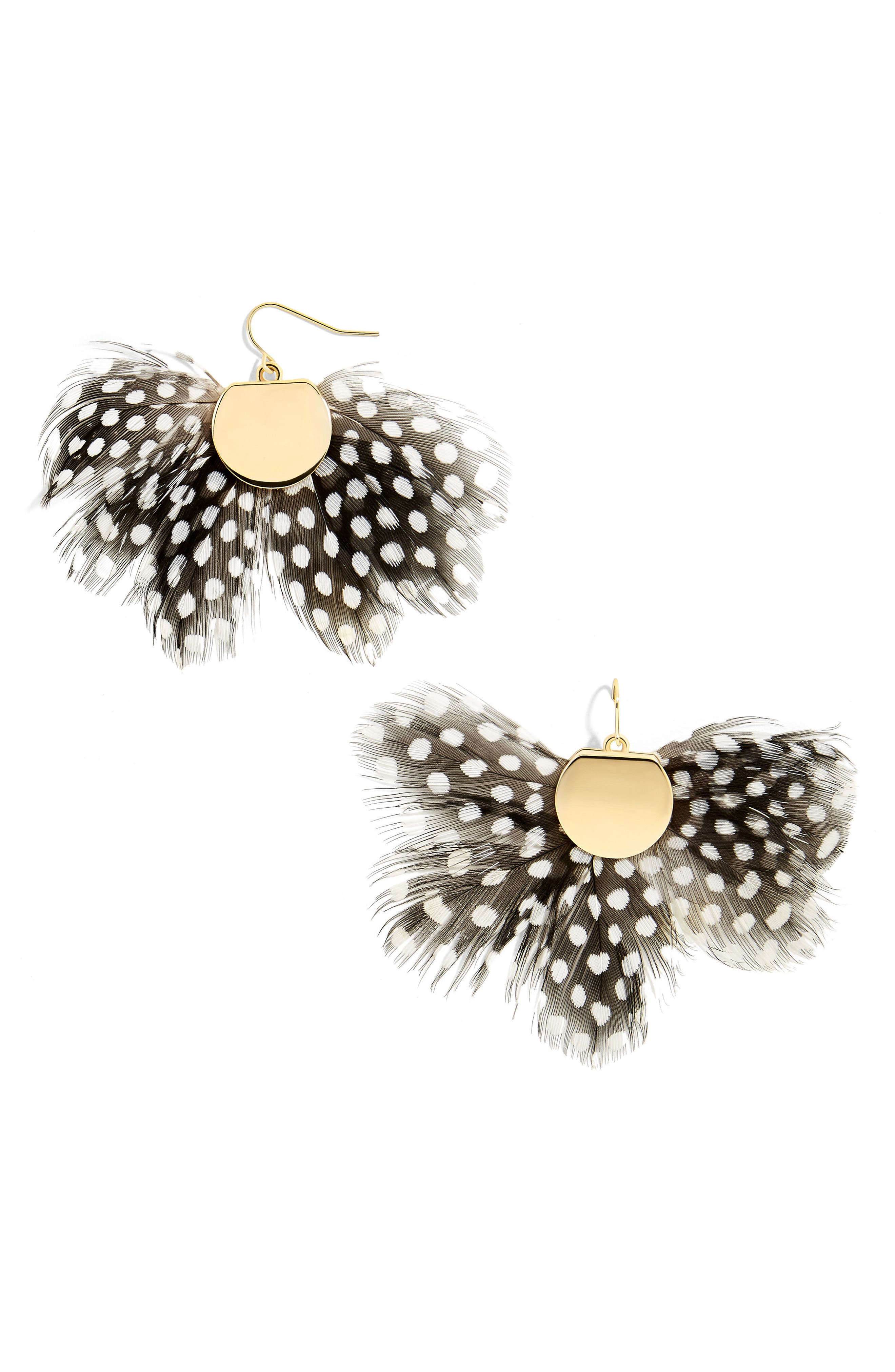 BaubleBar Monarch Feather Statement Earrings