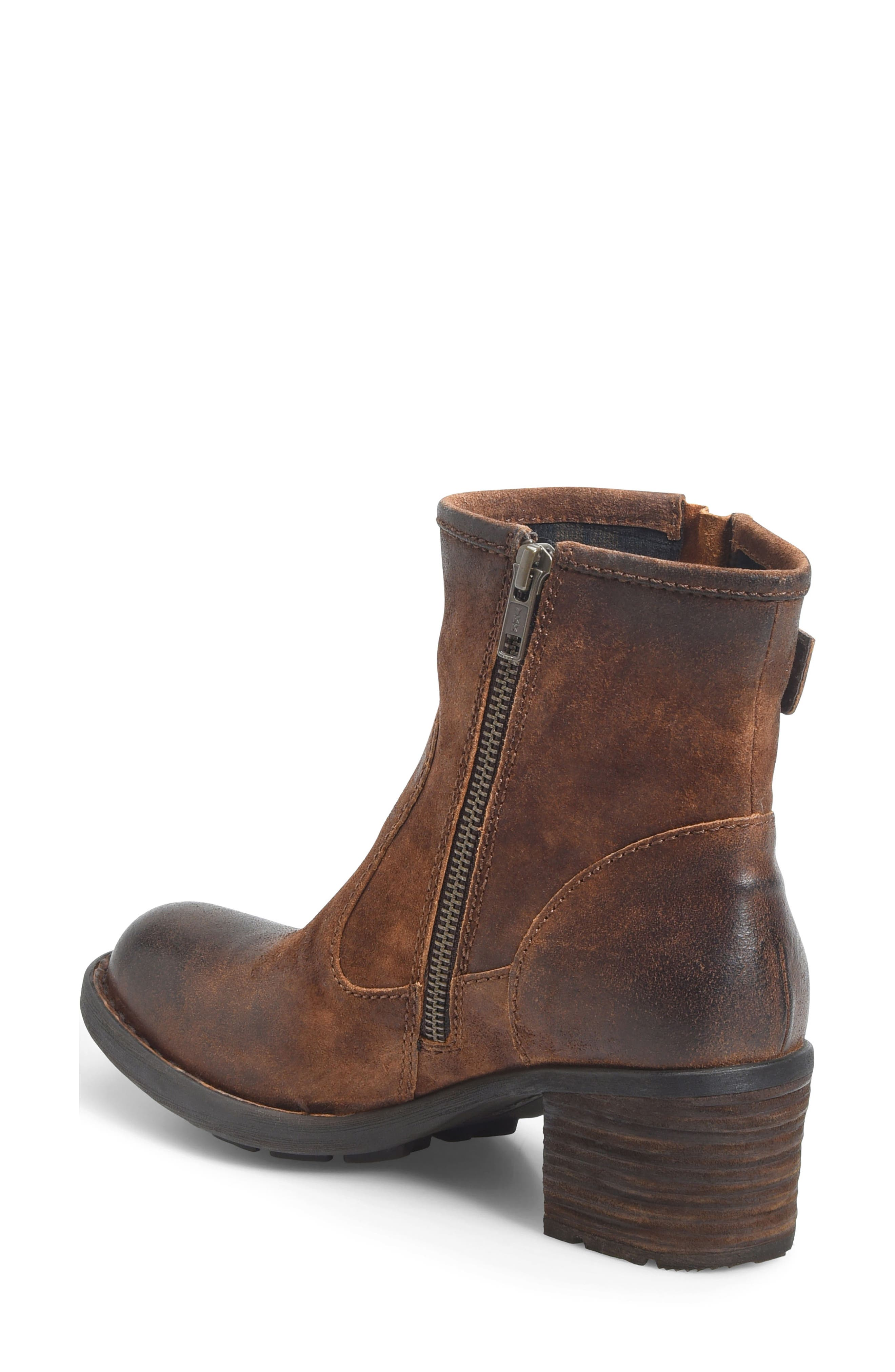 Gunn Engineer Bootie,                             Alternate thumbnail 2, color,                             Rust Distressed Leather