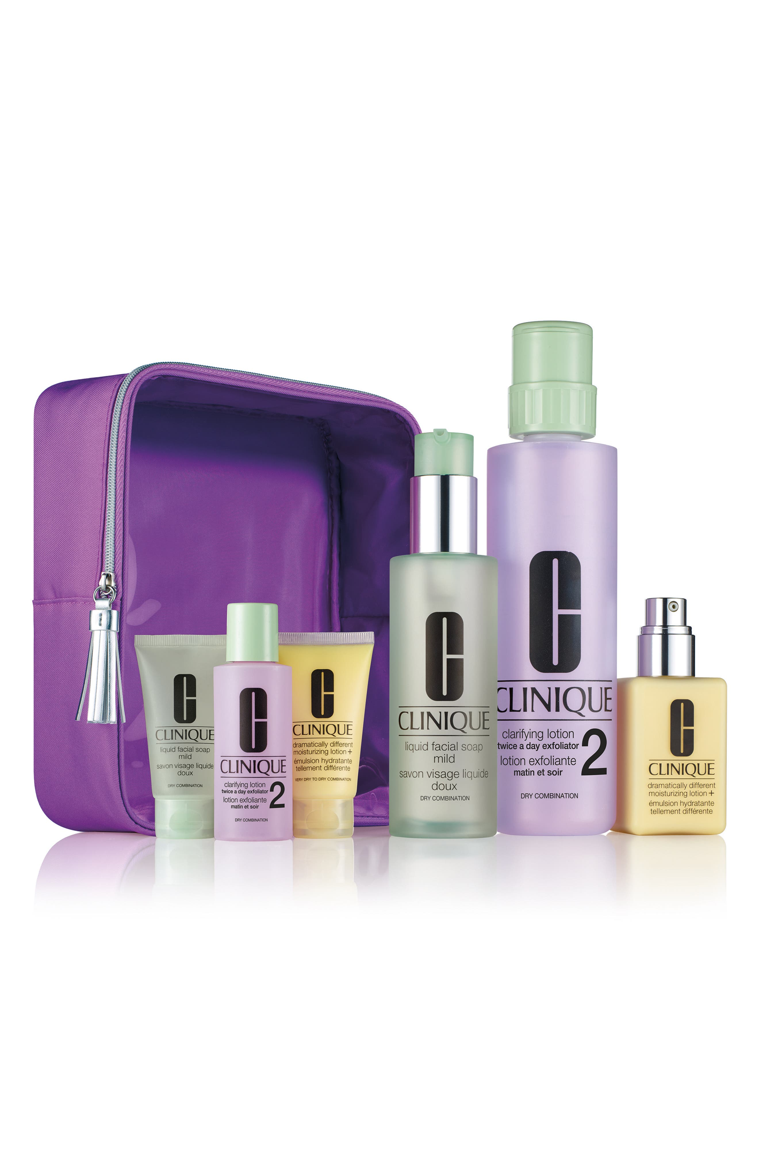 Clinique Great Skin Home & Away Set for Skin Type I & II ($92 Value)