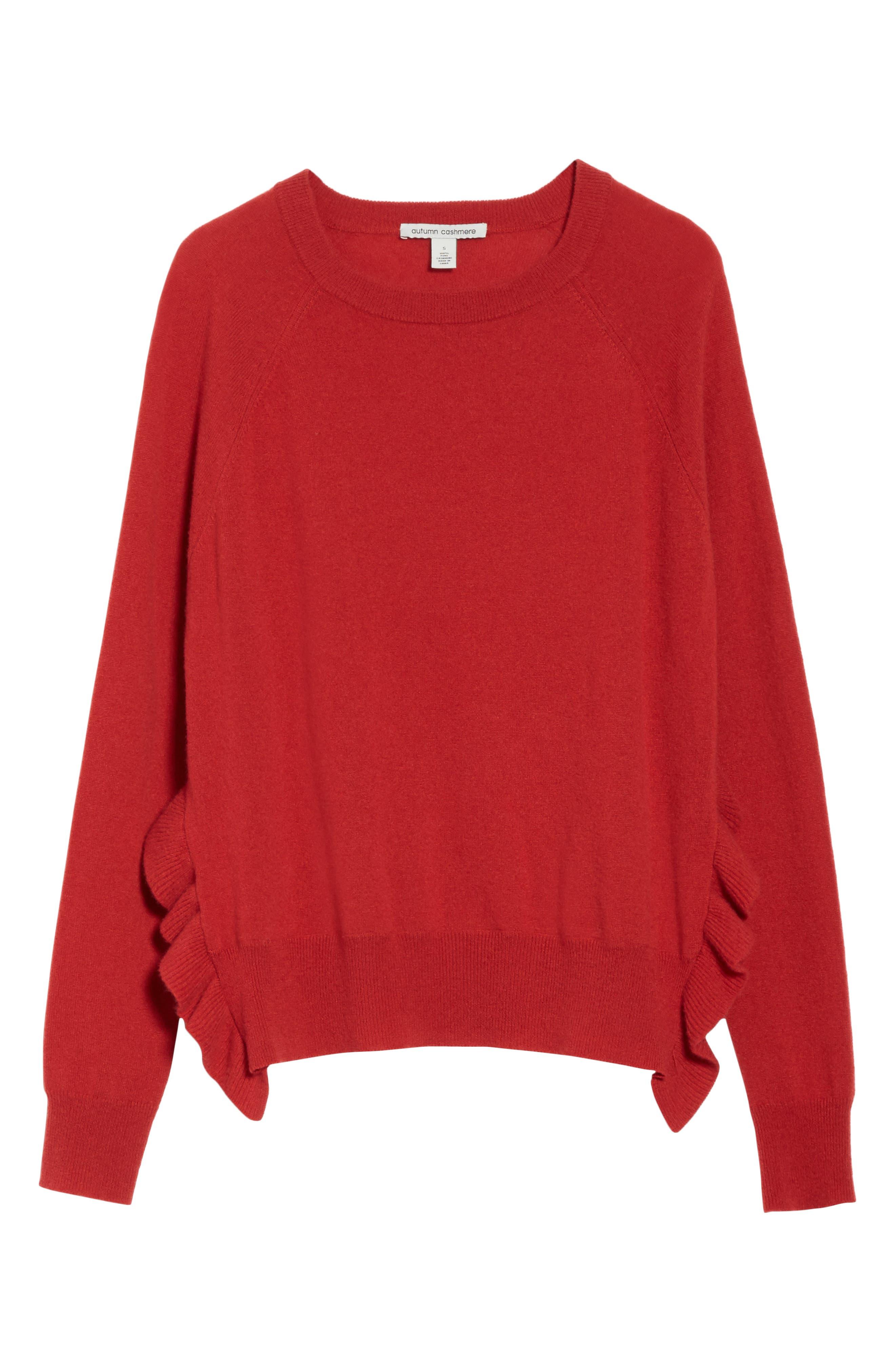 Alternate Image 6  - autumn cashmere Cashmere Side Ruffle Sweater